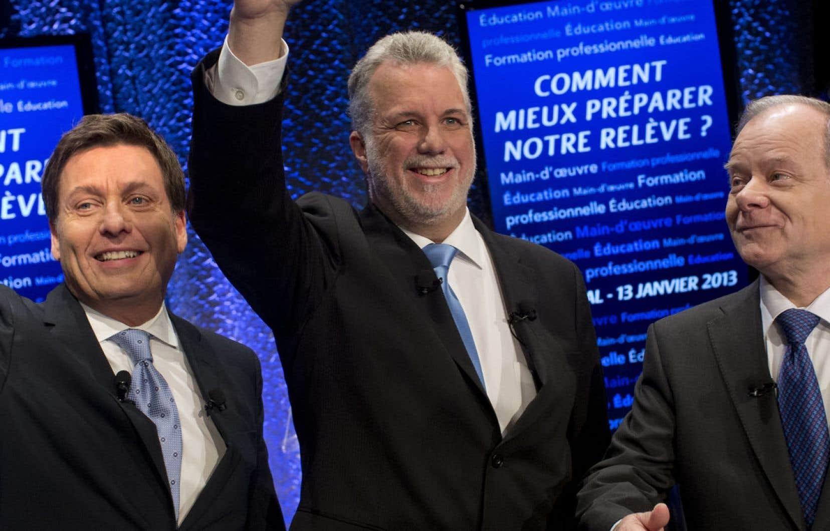 Pierre Moreau, Philippe Couillard et Raymond Bachand briguent la chefferie du Parti libéral.