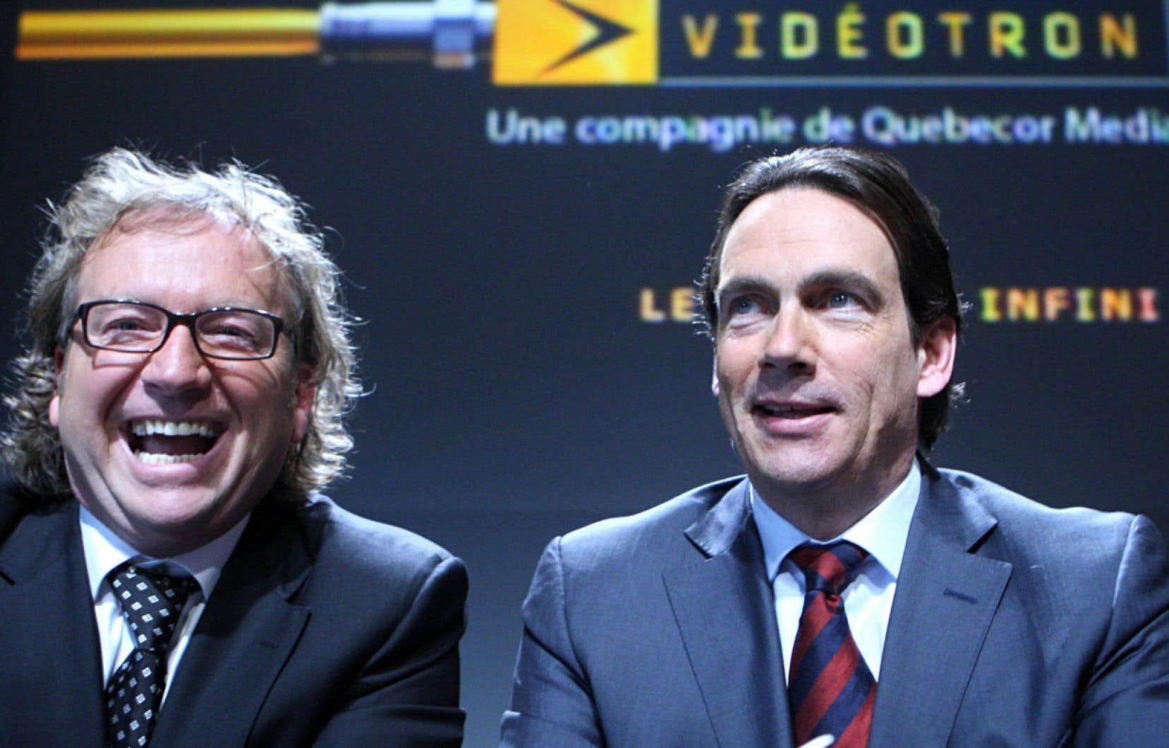<div> Robert Dépatie et Pierre Karl Péladeau</div>