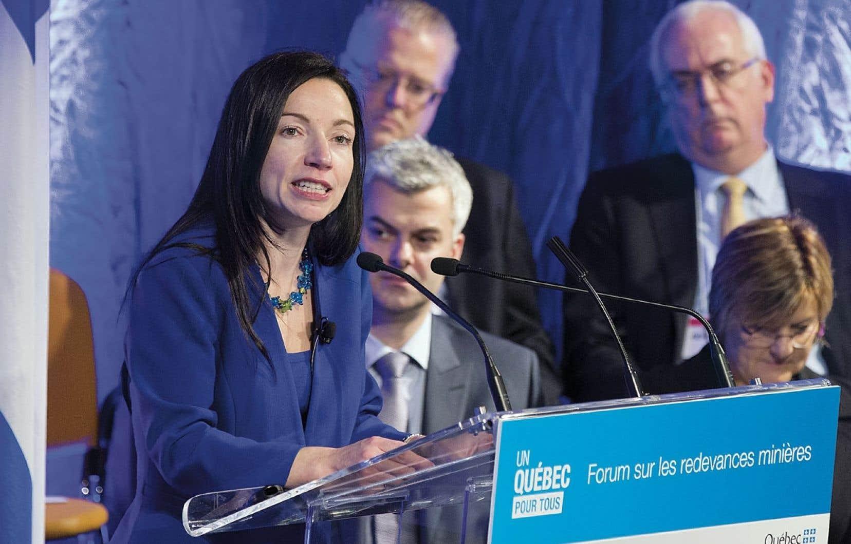 La ministre des Ressources naturelles, Martine Ouellet, savait très bien qu'un consensus serait impossible à obtenir à l'issue du Forum sur les redevances minières.