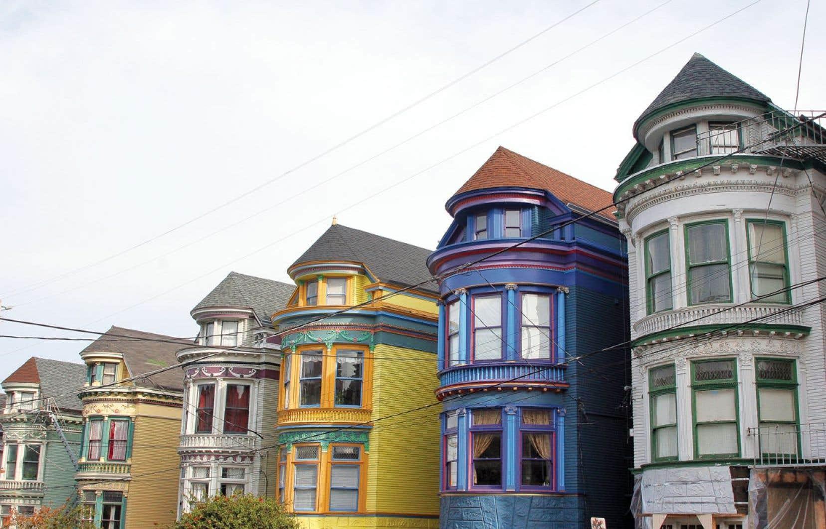 Un exemple d'architecture typique de San Francisco, en Californie.