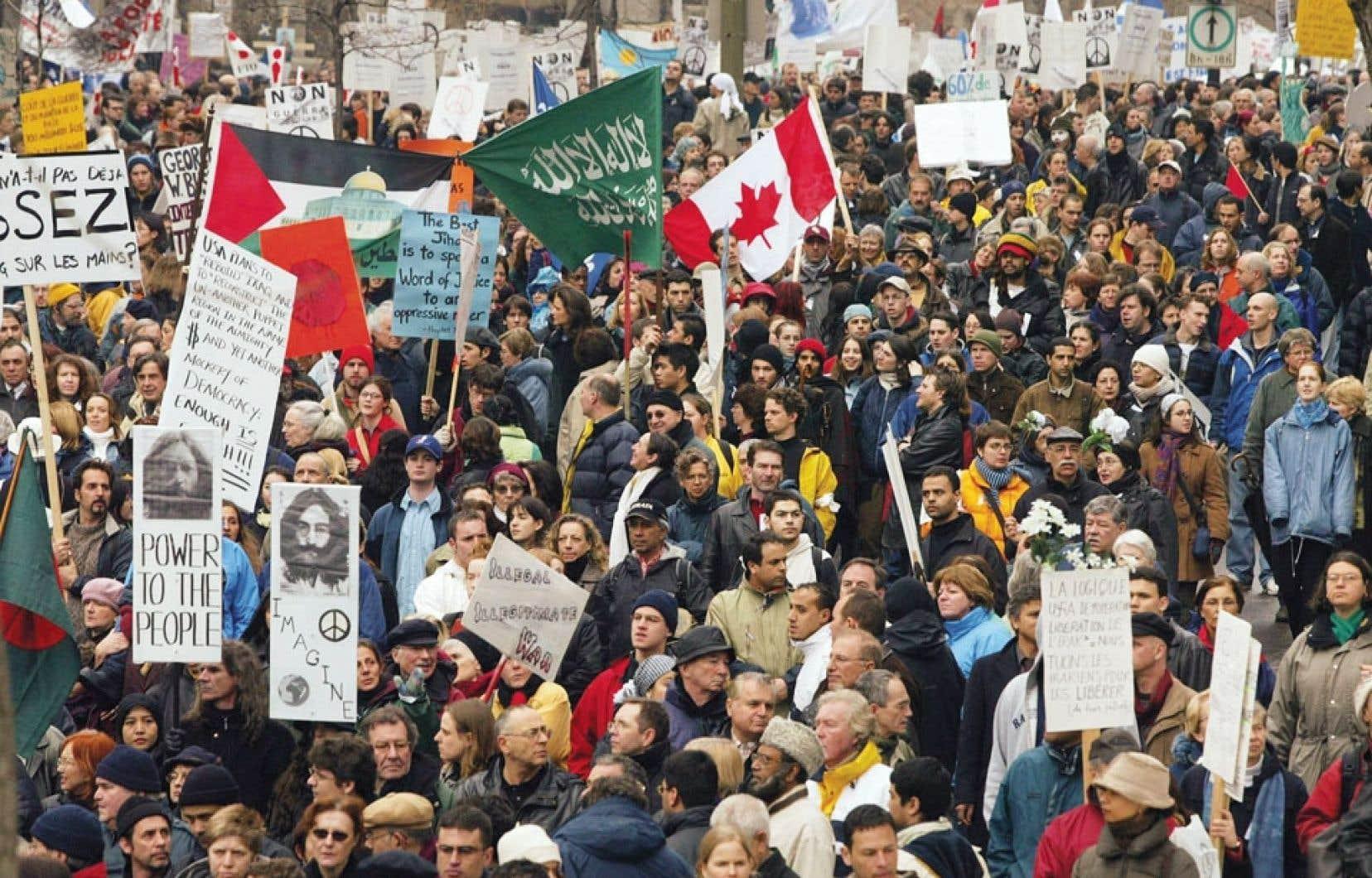 Dix ans plus tard, nous ne pouvons croire que la décision de Jean Chrétien ait été sans lien avec la formidable mobilisation populaire contre la guerre. Or, c'est au Québec que cette opposition s'exprimait le plus fortement en Amérique du Nord, avec des manifestations à répétition qui amenaient simultanément dans les rues plus de 200 000 personnes à Montréal.