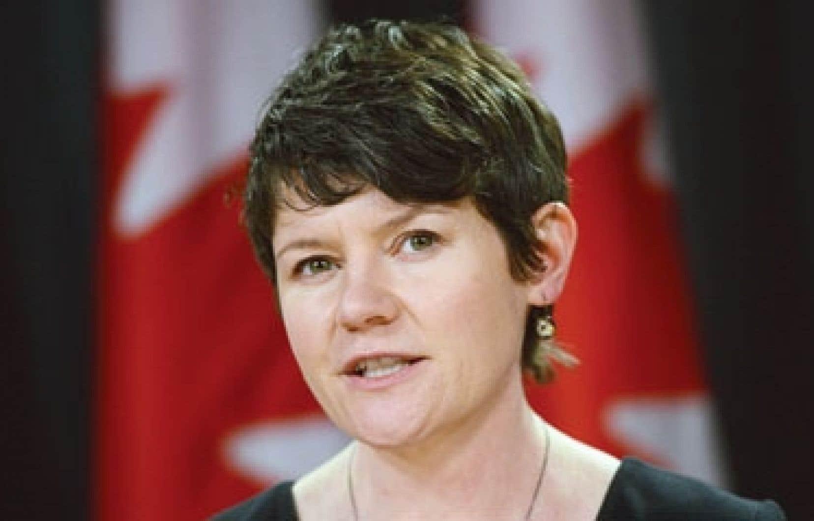 La députée néodémocrate Megan Leslie