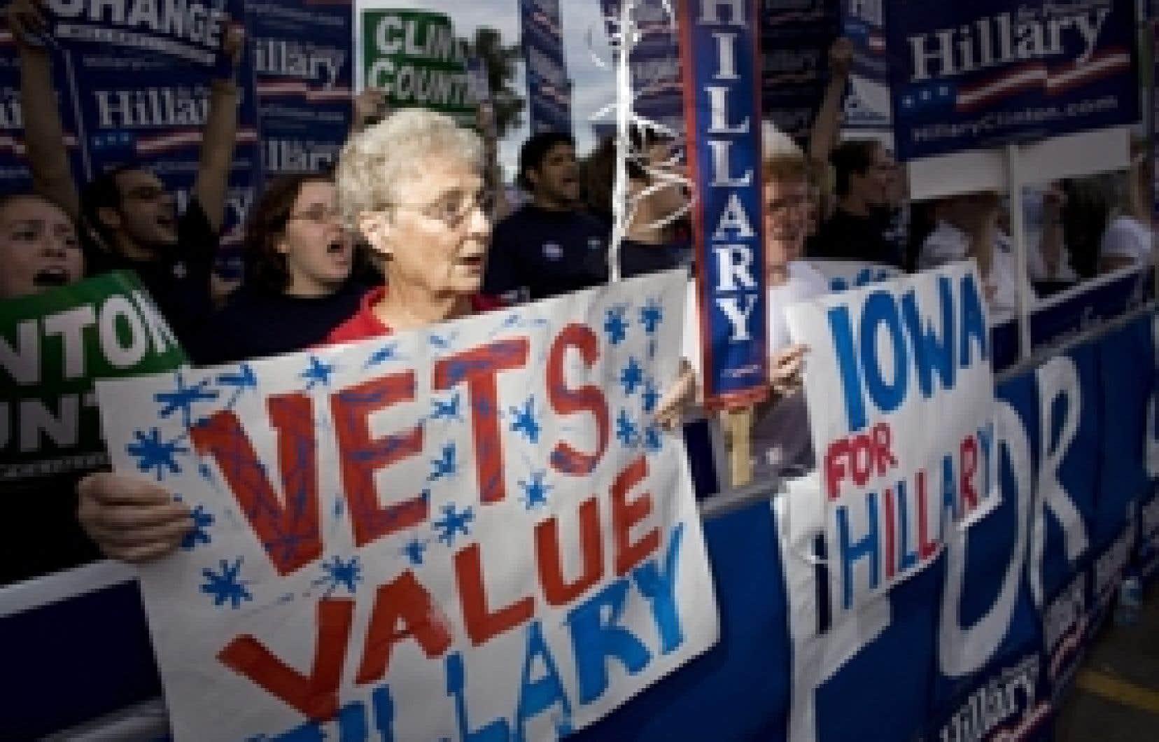 Les partisans de Hillary Clinton se sont réunis à Des Moines.
