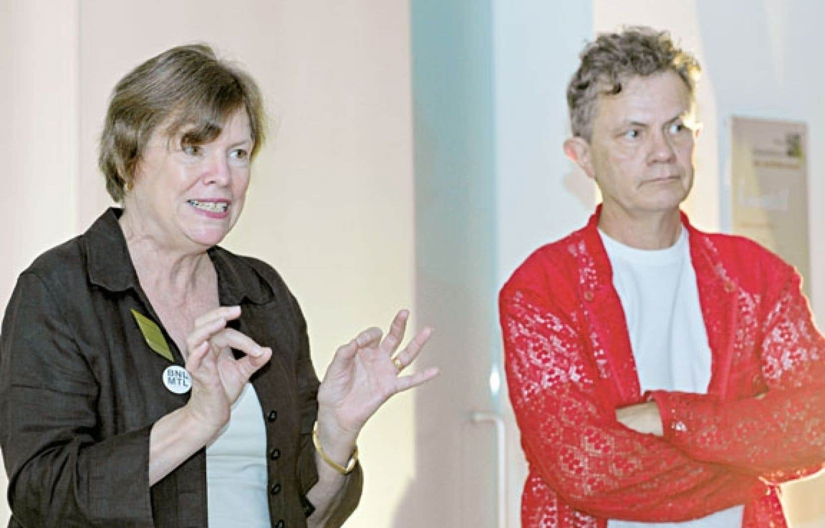 Les cocommissaires Peggy Gale et Gregory Burke