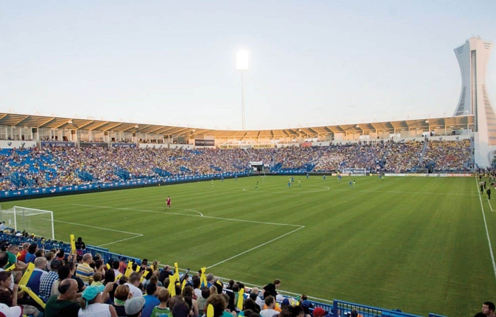Le stade Saputo est prêt pour le premier match de la saison à domicile de l'Impact, samedi.