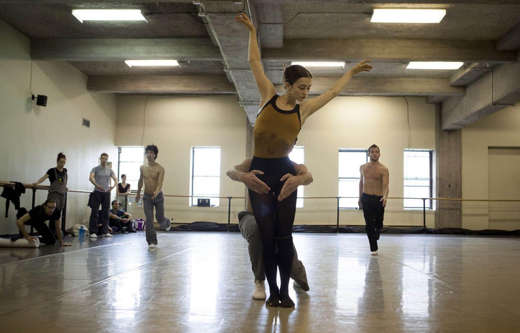 Une répétition des Grands Ballets canadiens de Montréal