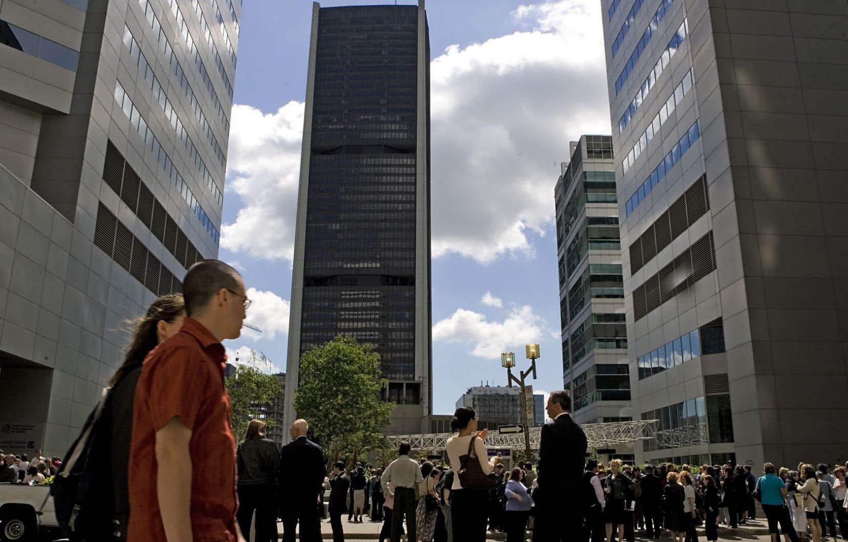 Le quartier des affaires à Montréal