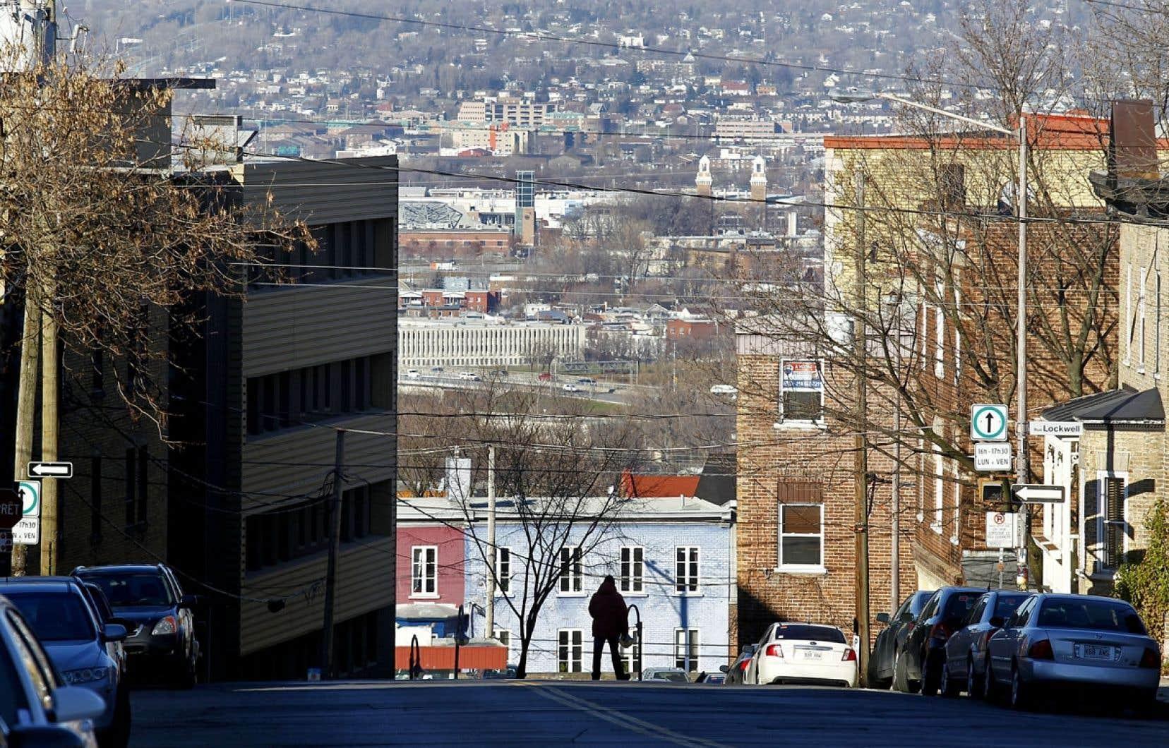 Vue sur la Basse-Ville de Québec depuis le quartier Saint-jean-Baptiste