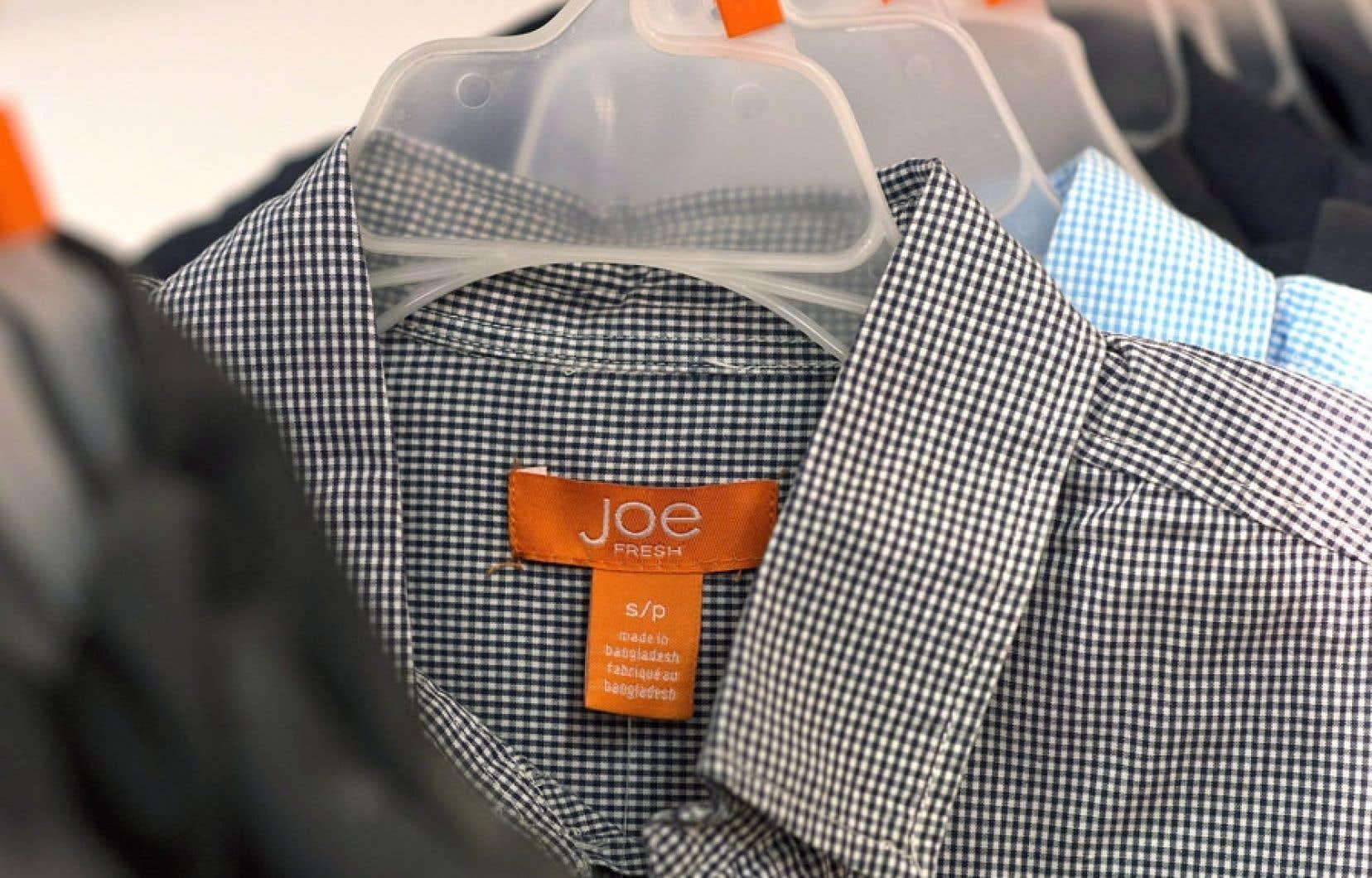 La ligne de vêtements Joe Fresh, de la compagnie Loblaw.