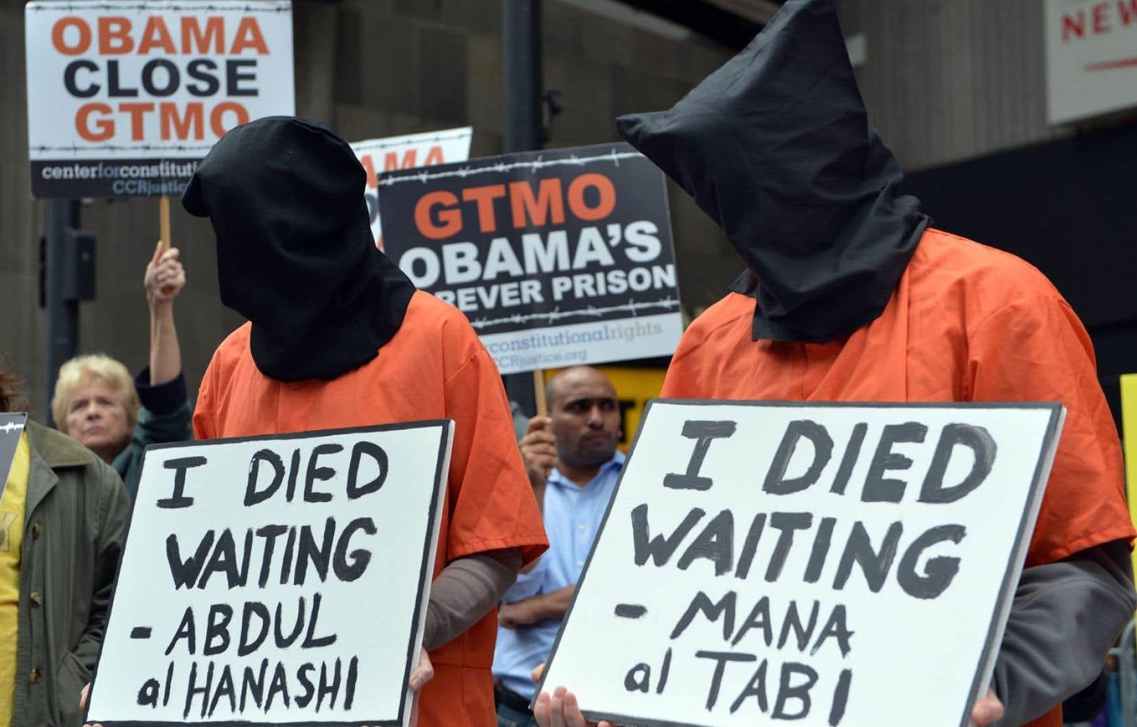 <div> Les manifestations r&eacute;clamant la fermeture de la prison de Guant&aacute;namo se poursuivent aux &Eacute;tats-Unis.</div>