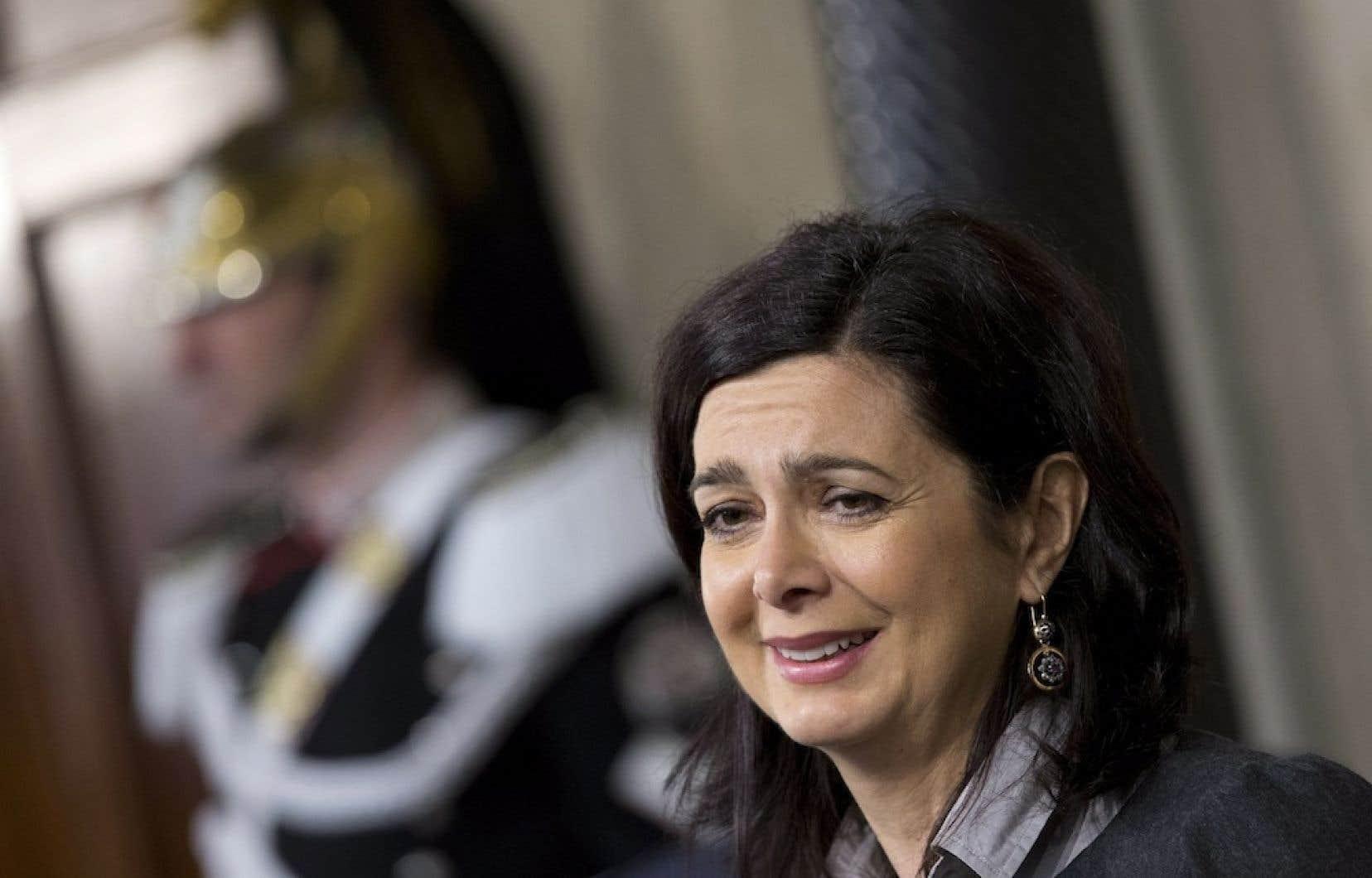 « Je n'ai pas peur d'ouvrir un front de bataille », affirme la présidente de la Chambre des députés en Italie, LauraBoldrini.