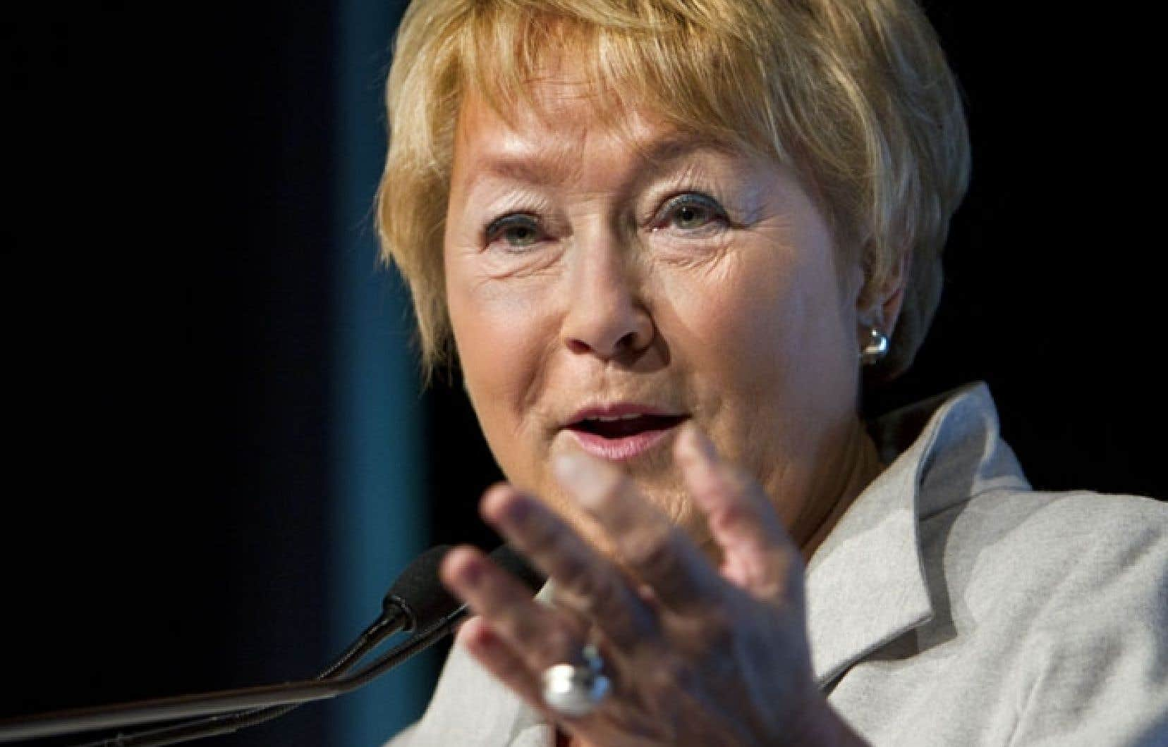 La première ministre, Pauline Marois