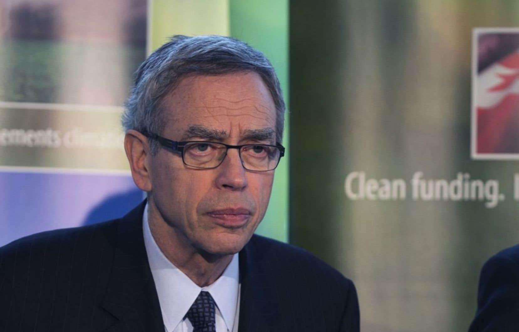 Le ministre des Ressources naturelles, Joe Oliver