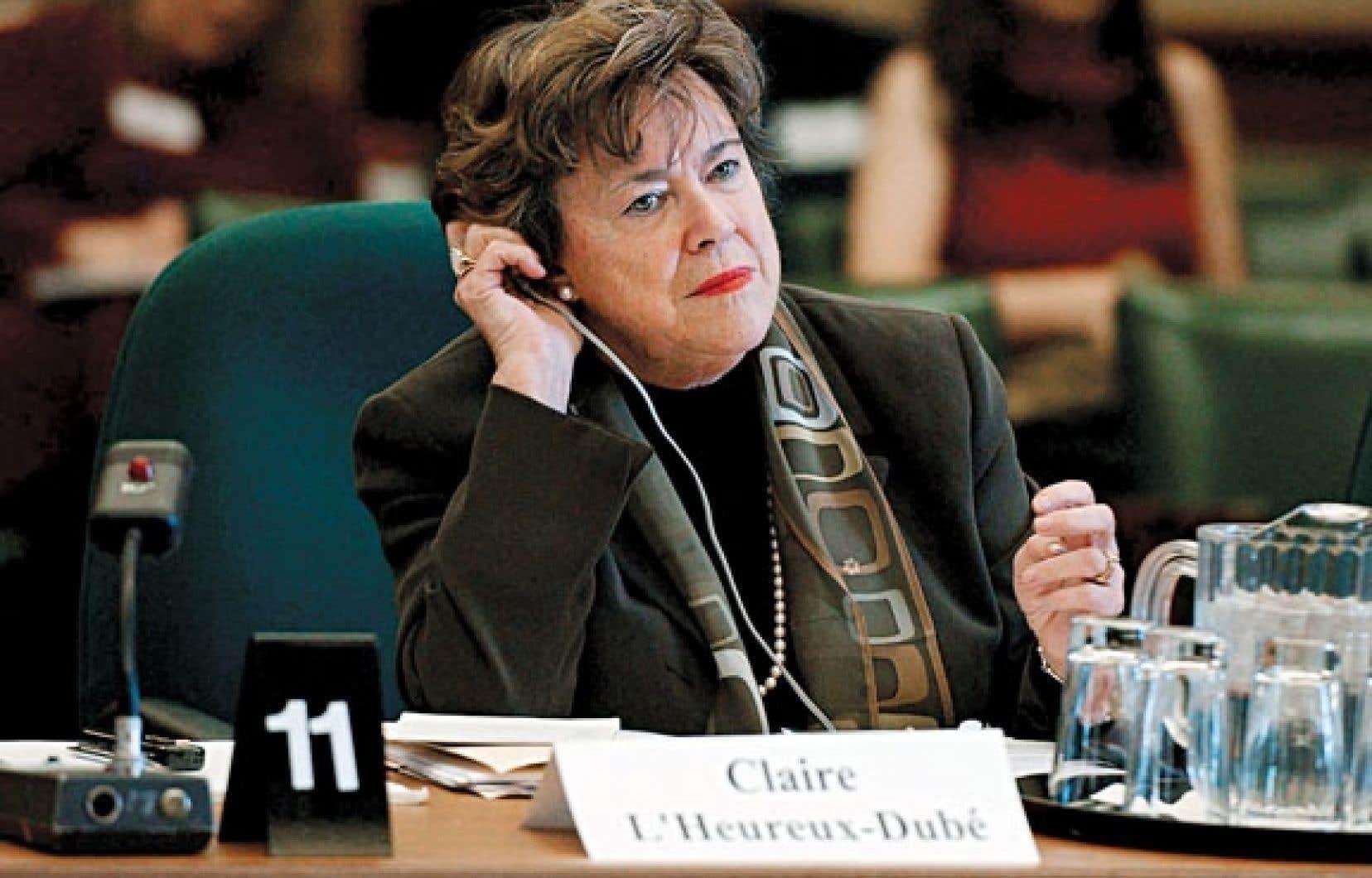 Claire L'Heureux-Dubé, ancienne juge de la Cour suprême du Canada.