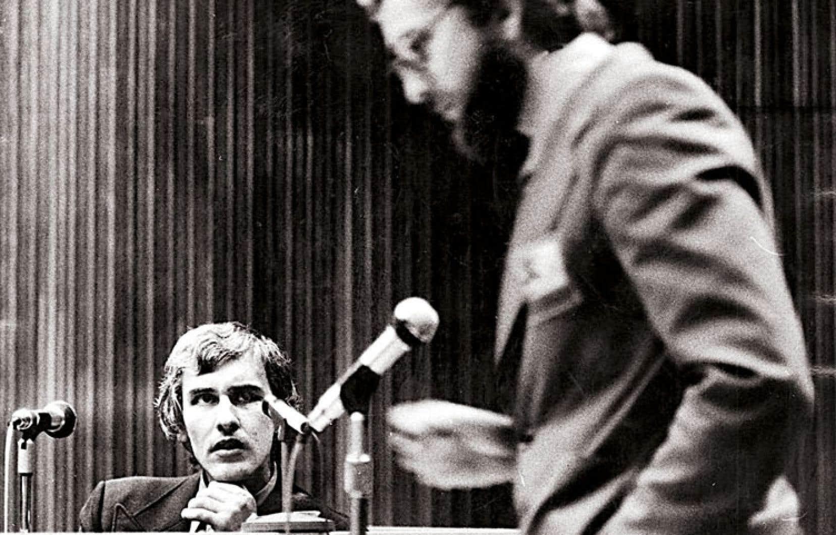 Robert Samson, caporal à la GRC, lors de son passage en cour au sujet du scandale du vol des listes de membres du PQ
