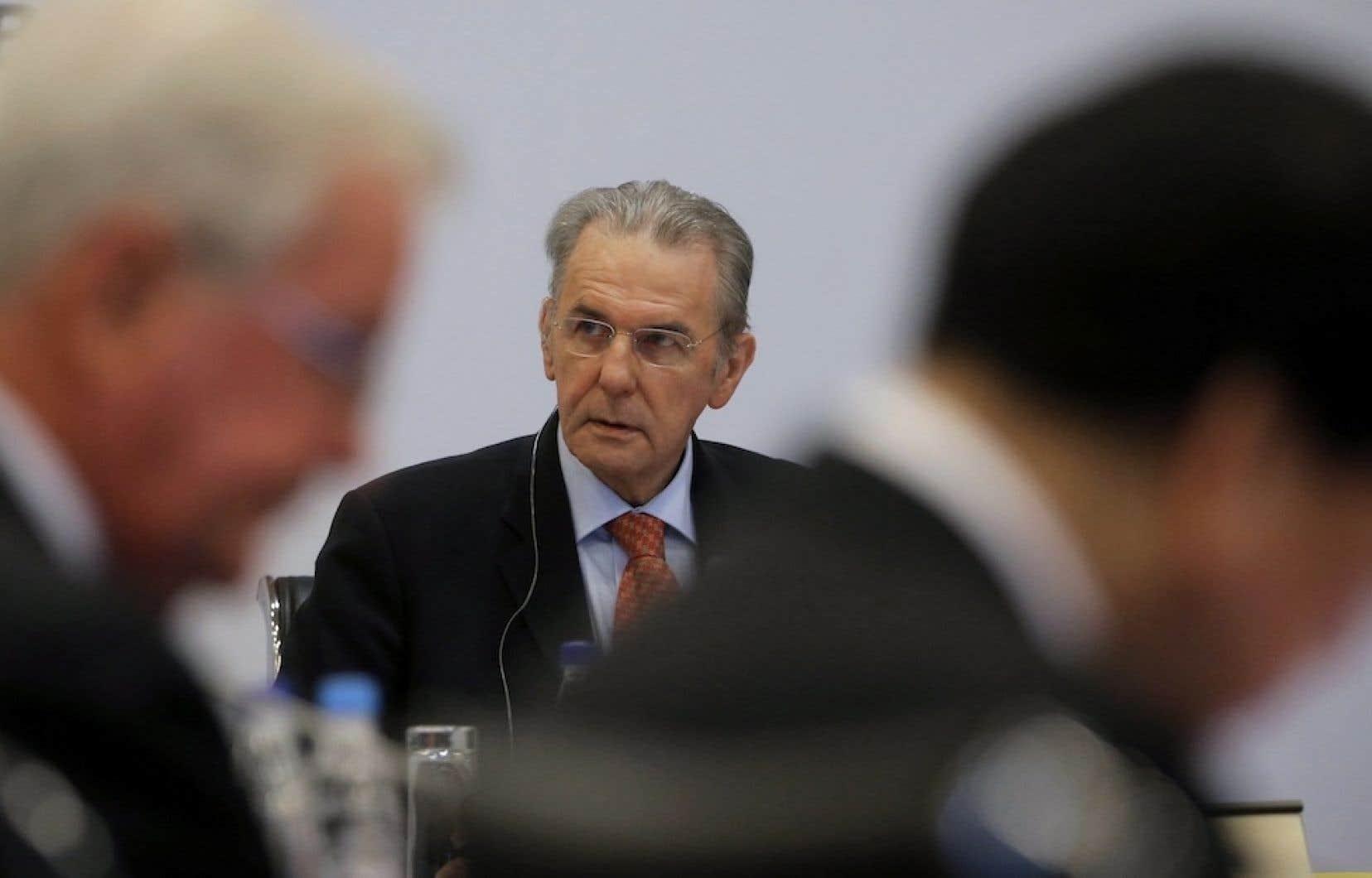 Jacques Rogge, président du Comité international olympique