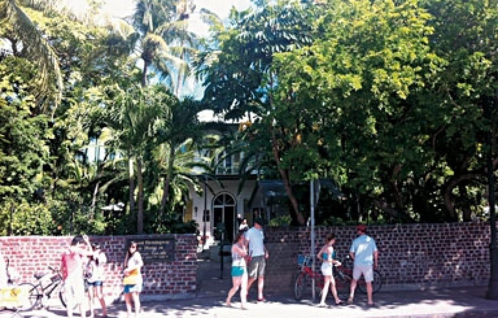 La très fréquentée maison d'Ernest Hemingway.