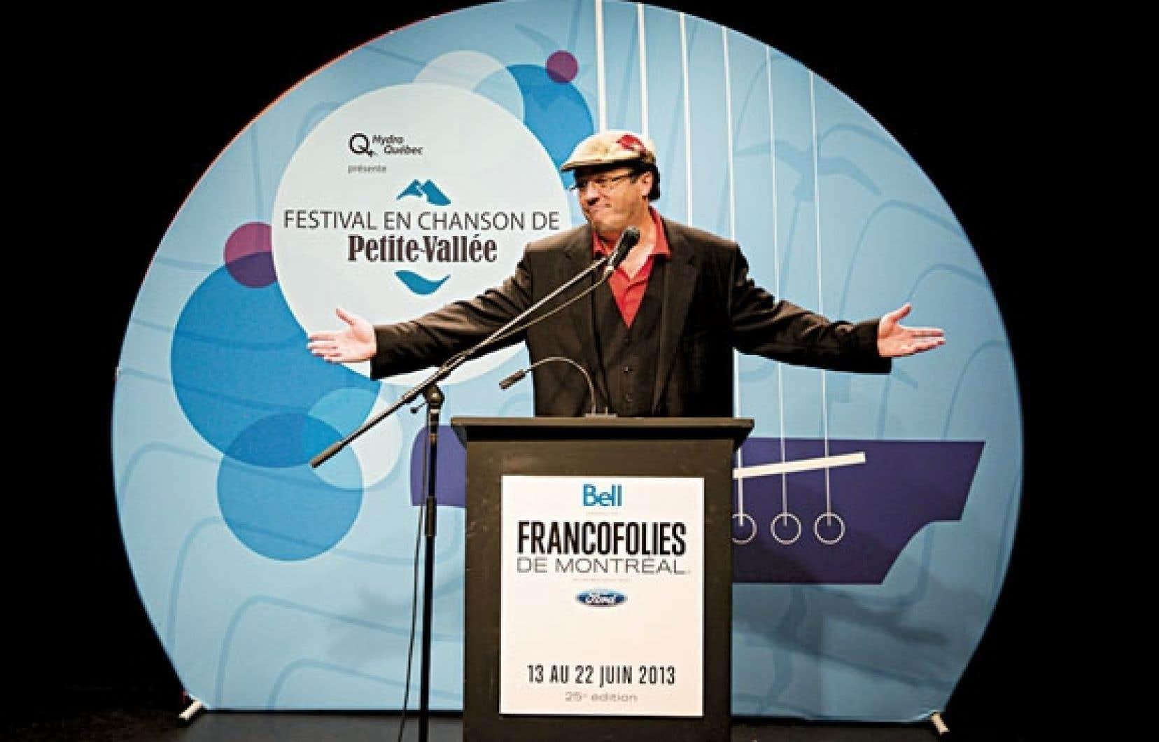 Le directeur du Festival en chanson de Petite-Vallée, Alan Côté, a profité mardi de la vitrine offerte par les FrancoFolies pour lancer sa programmation.