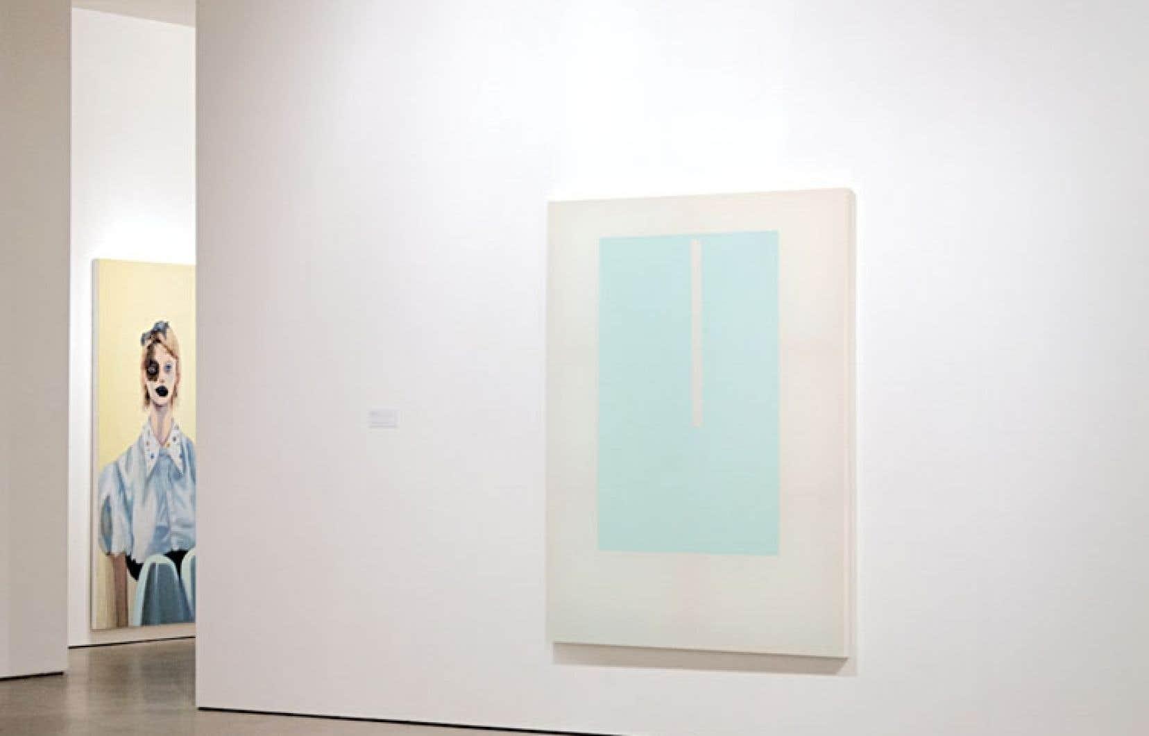 À gauche : Janet Werner, Del, 2013. À droite : Chris Kline, Section, 2011-2012.