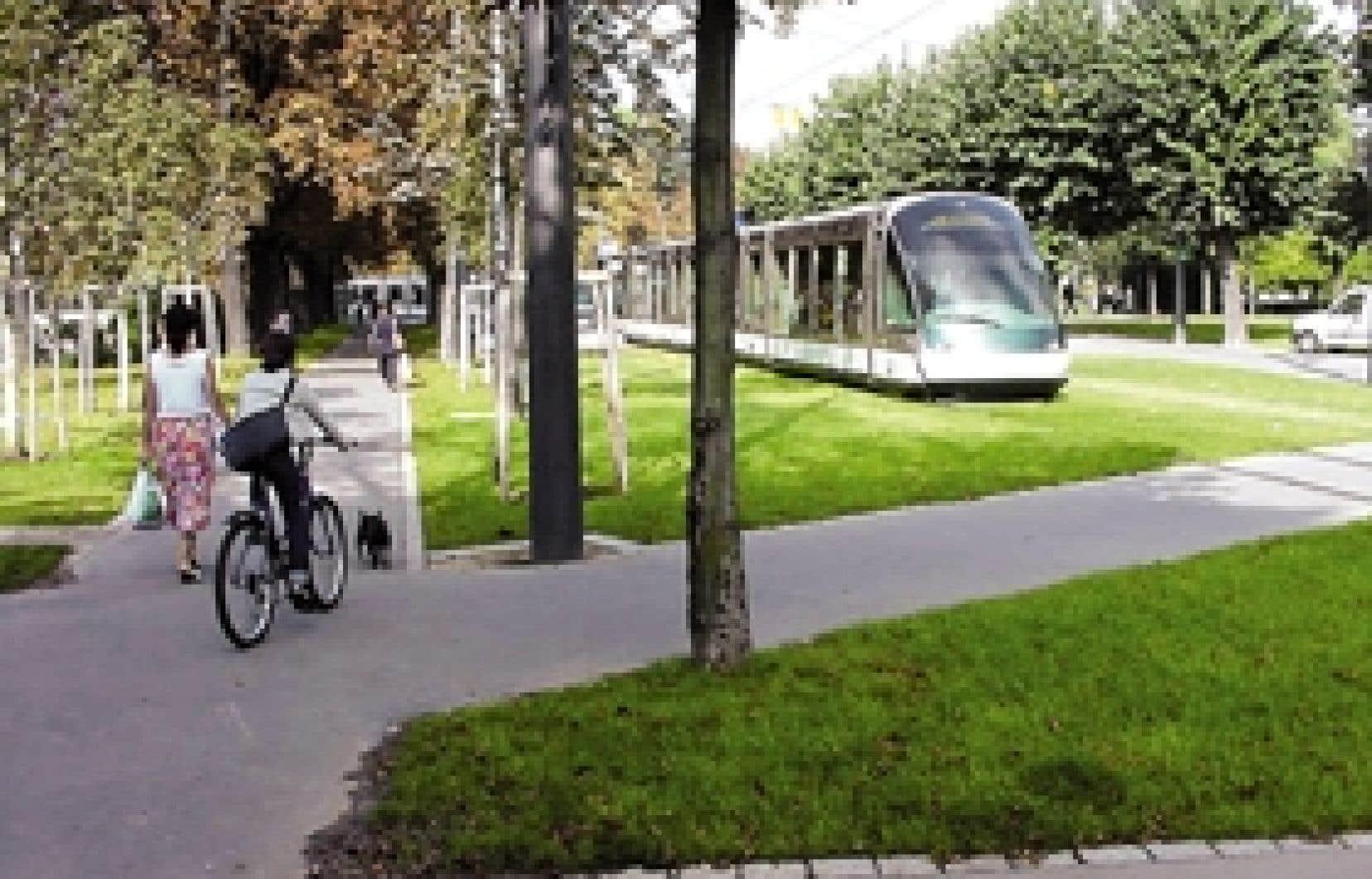 Un tramway relierait Dorval au Vieux-Montréal dans les plans imaginés par les architectes du projet Lac à la Loutre.
