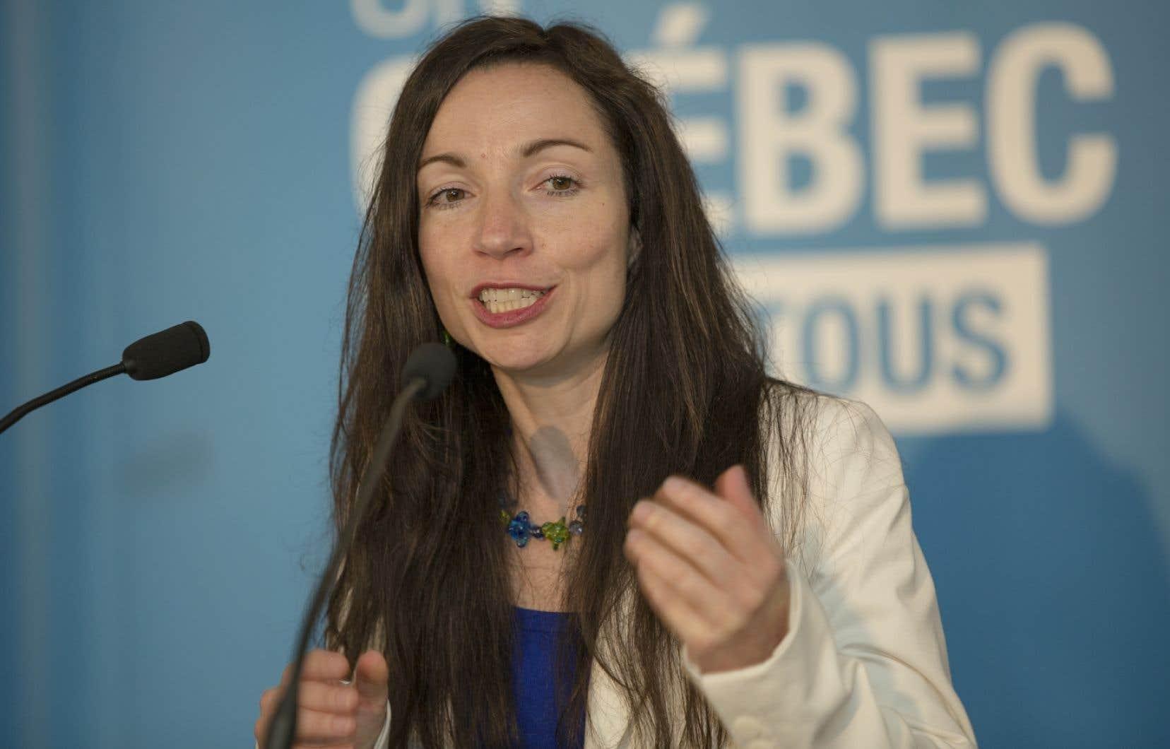 Martine Ouellet a plaidé que l'énergie constituait «un puissant levier de développement économique et social pour le Québec».