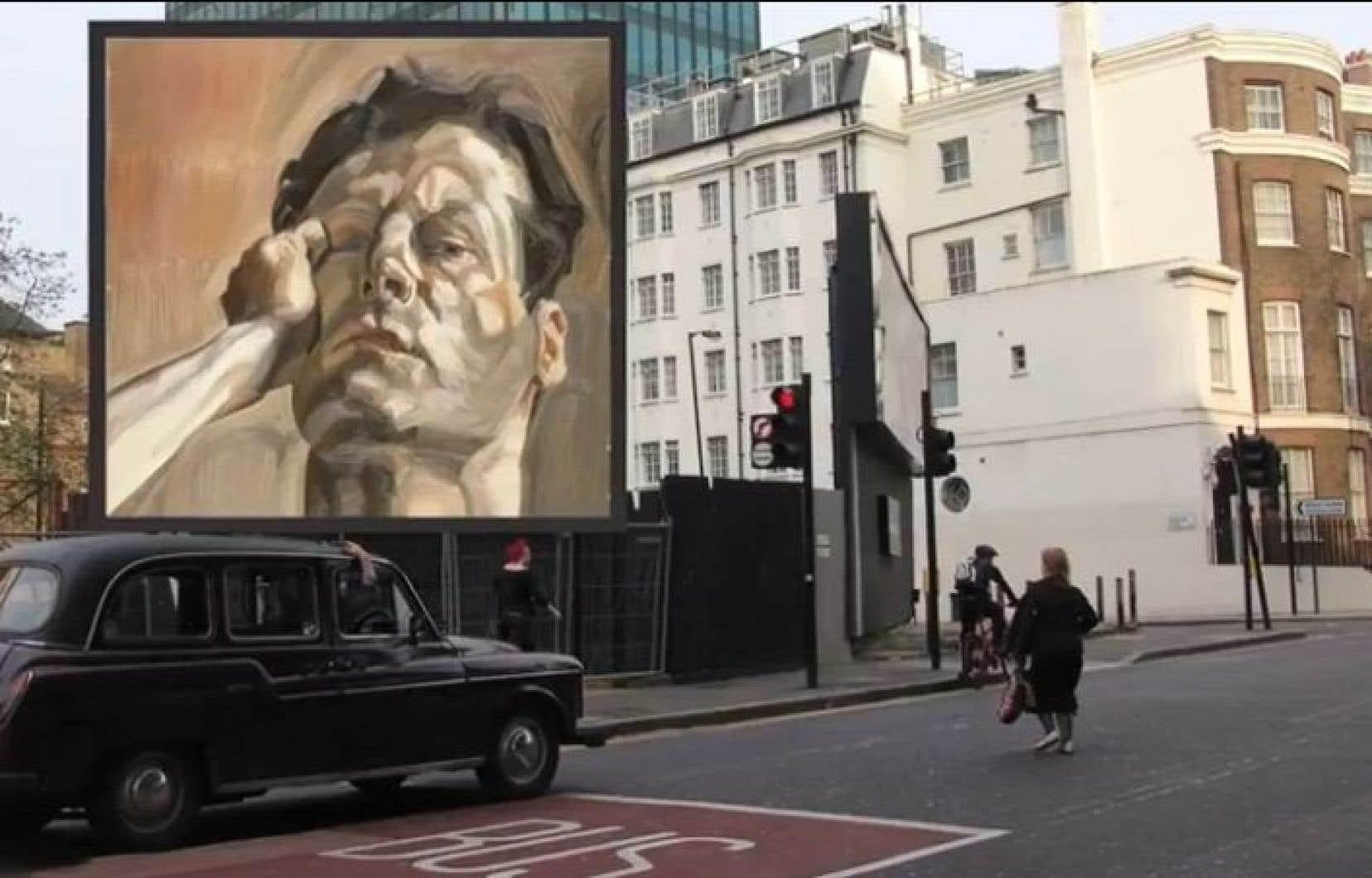Man's Head (autoportrait 1), Lucian Freud