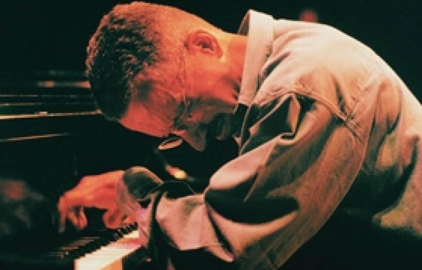 Keith Jarrett, lors d'une de de ses visitesw au Festival de jazz de Montréal.