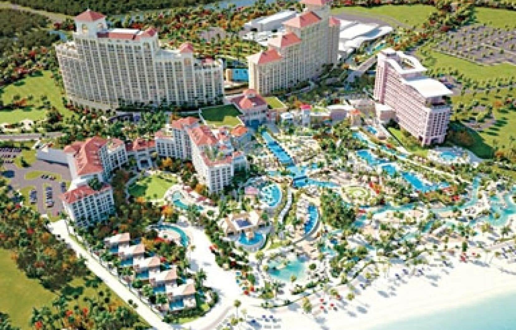 Le Baha Mar, mégaprojet chinois de 3,5 milliards modélisé ci-dessus, devrait être ouvert pour les vacanciers en décembre prochain.