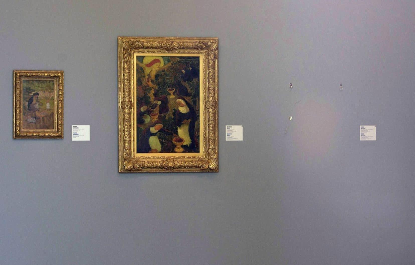 Au musée Kunsthal de Rotterdam, la place qu'occupait La liseuse en blanc et Jaune d'Henri Matisse avant son vol.