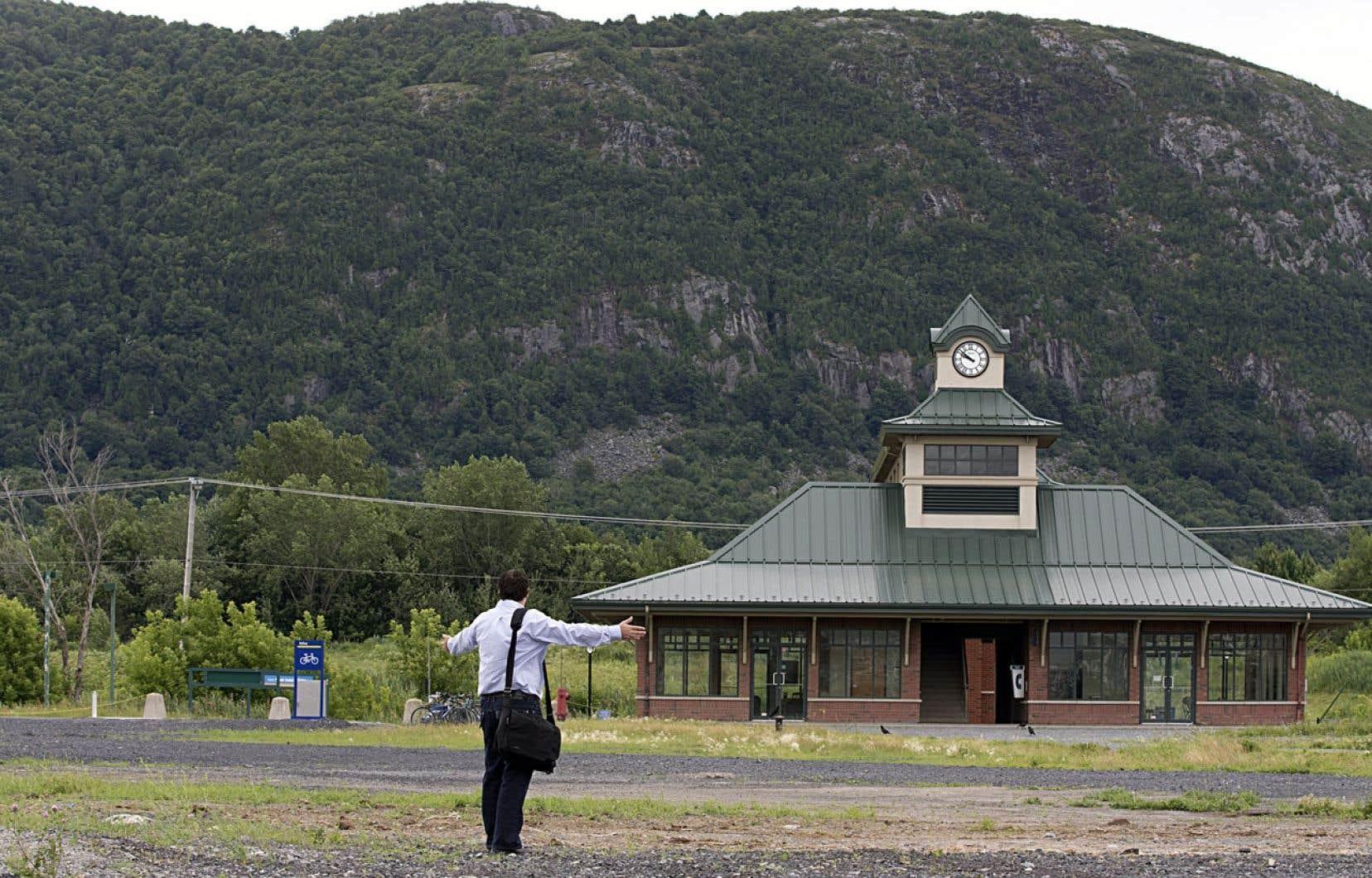 Le Village de la gare, à Mont-Saint-Hilaire, à une cinquantaine de kilomètres de Montréal.