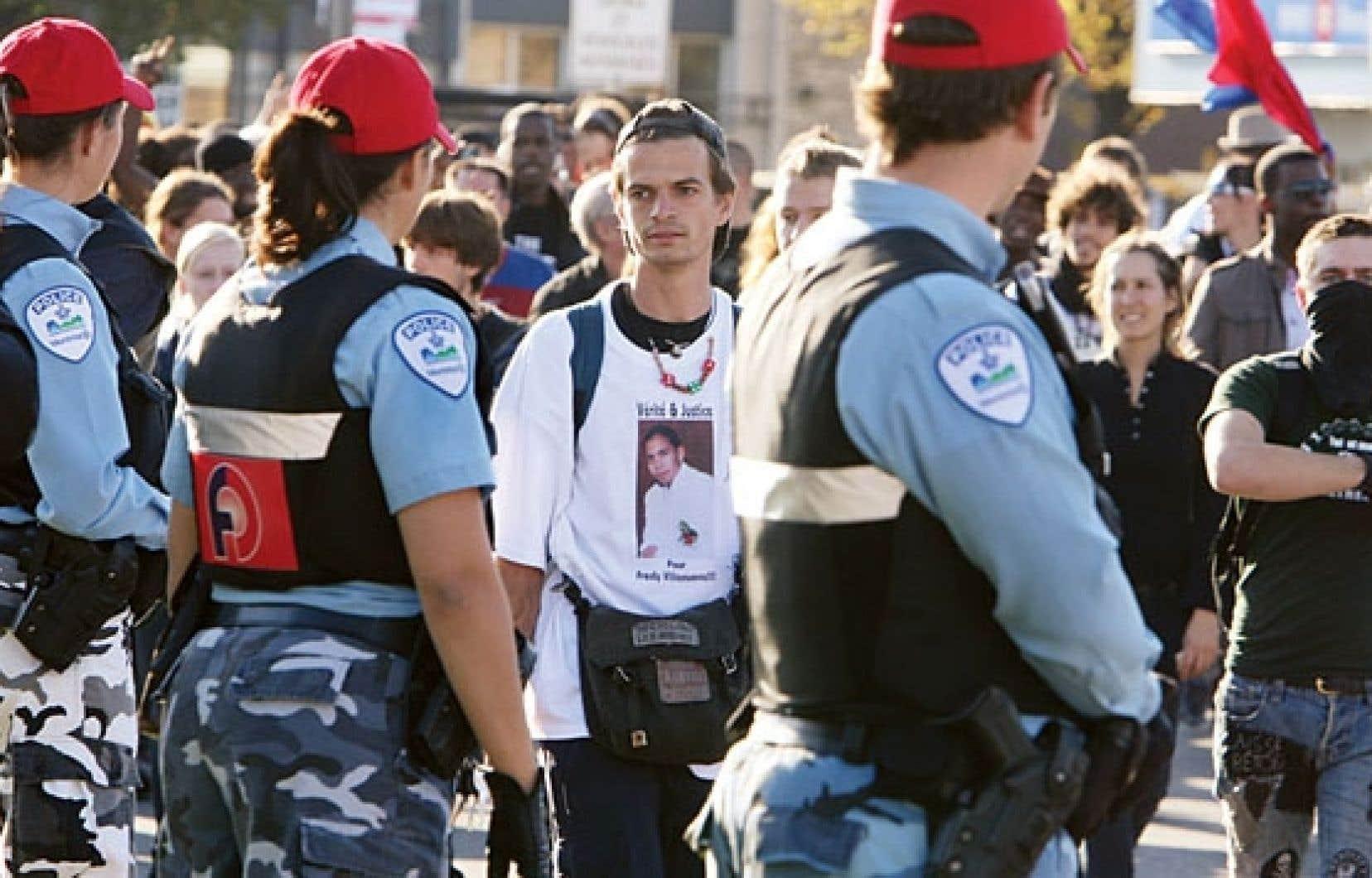 Plusieurs manifestations ont suivi le décès tragique de Fredy Villanueva en août 2008.