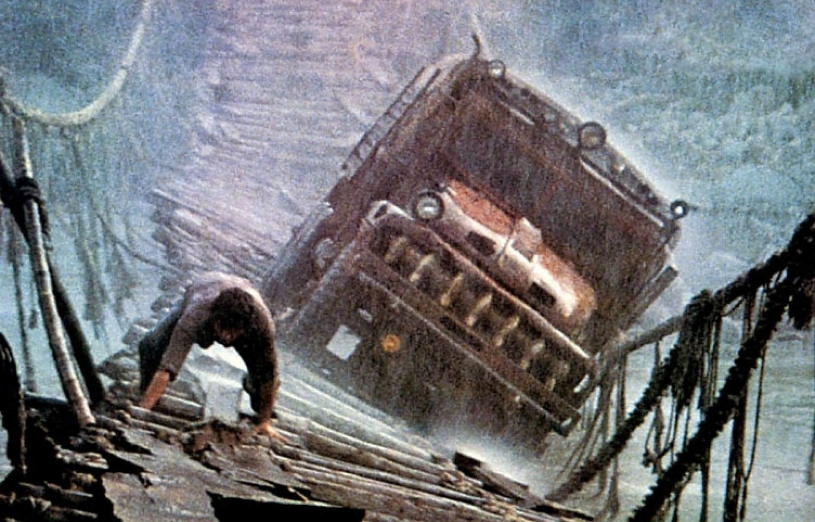 Une scène mémorable du film Le convoi de la peur