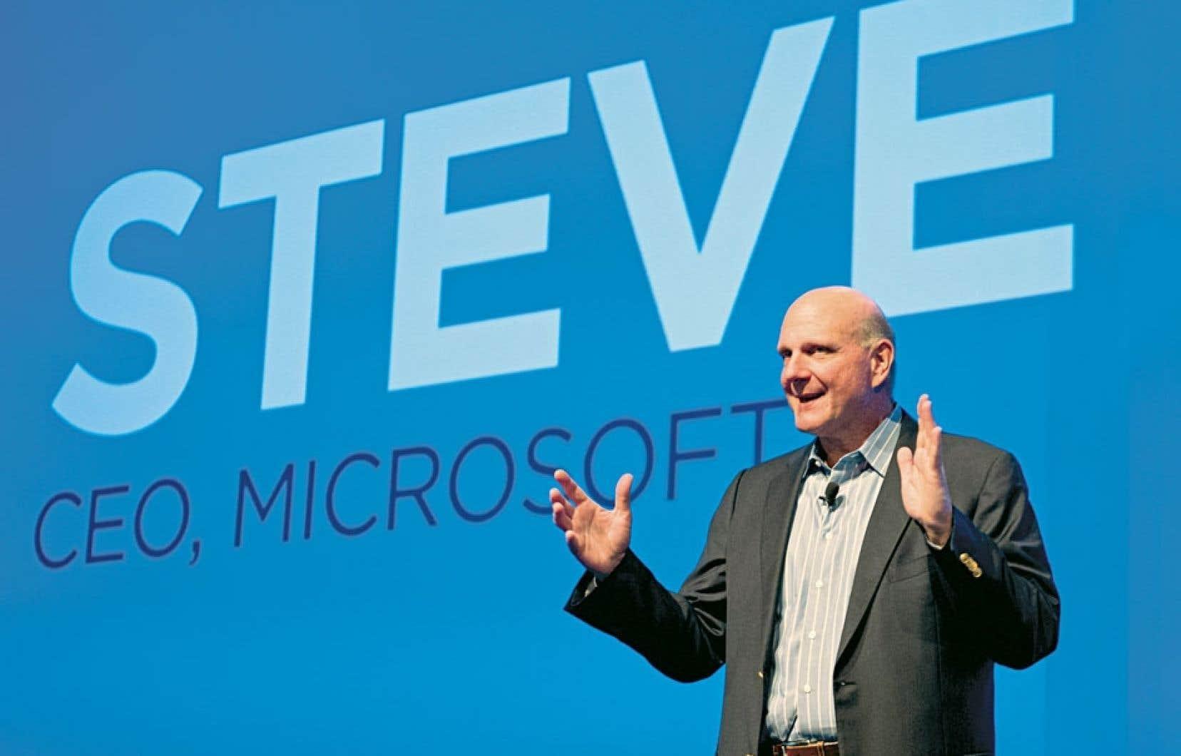 Steve Ballmer a pris la relève de Bill Gates en 2000. Il quittera ses fonctions d'ici un an.