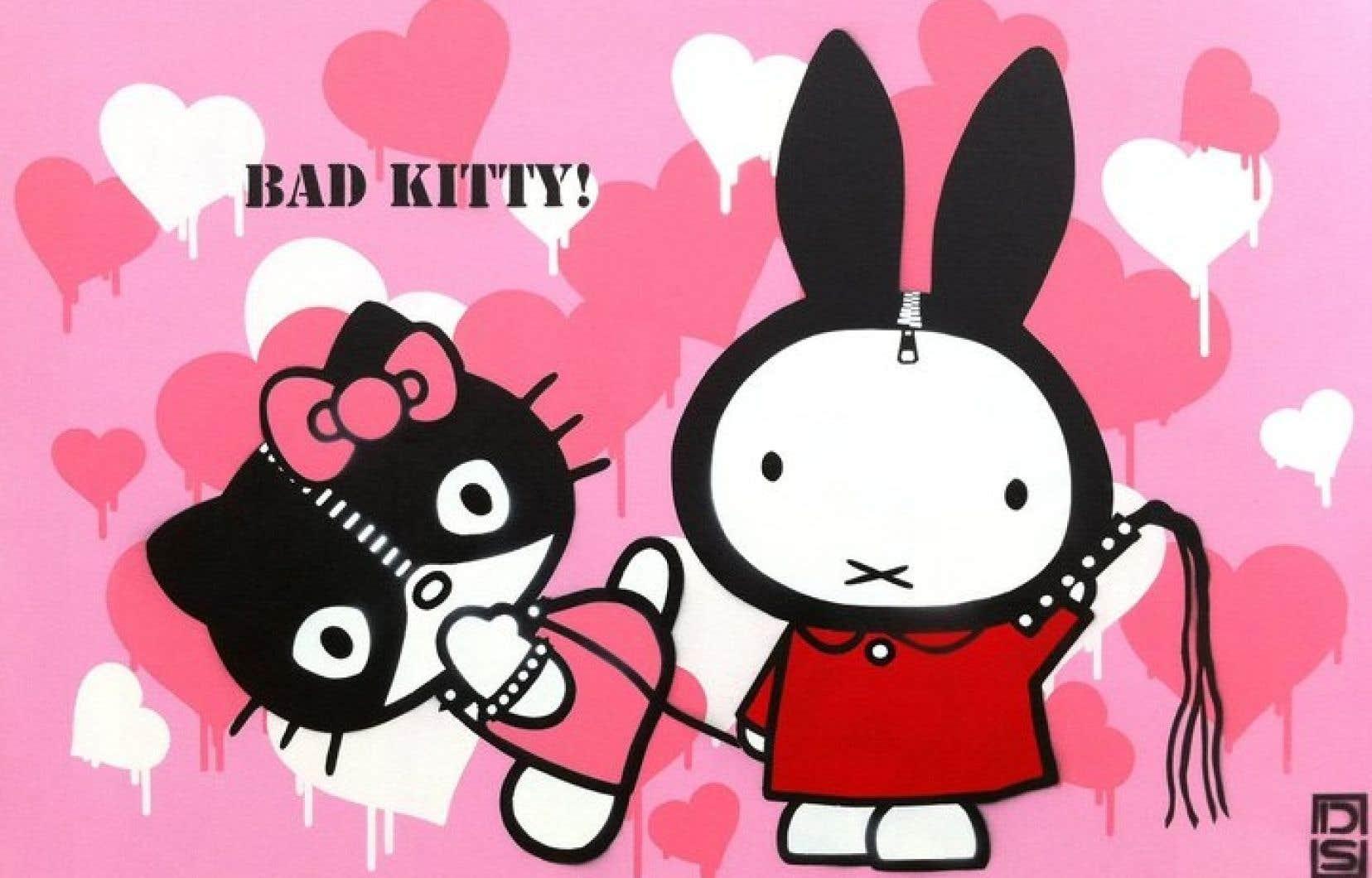 Le graffiti «Bad Kitty» de l'artiste DS.