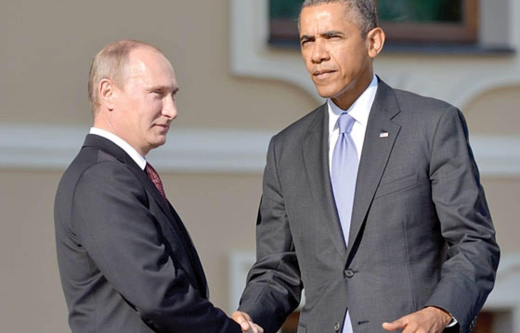 Seule une brève poignée de main a rapproché Barack Obama et Vladimir Poutine lors de l'arrivée officielle du président américain au sommet du G20.