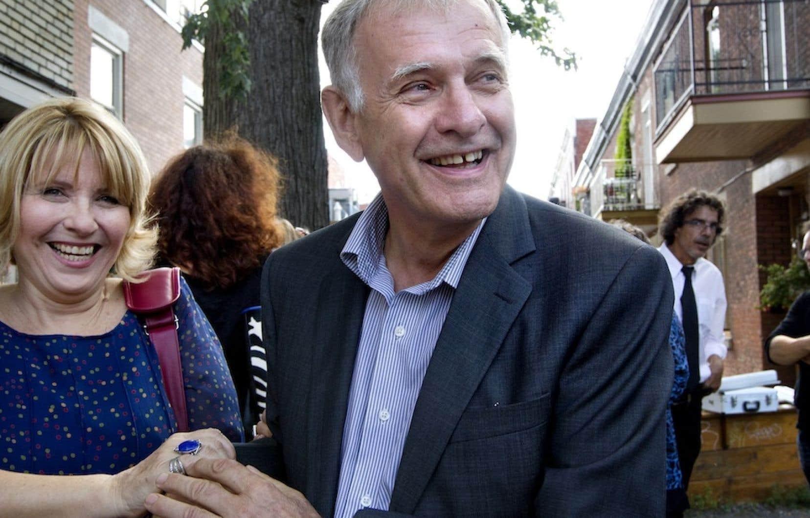 Marcel Côté présentait, la semaine dernière, la candidature de la comédienne Danièle Lorain.
