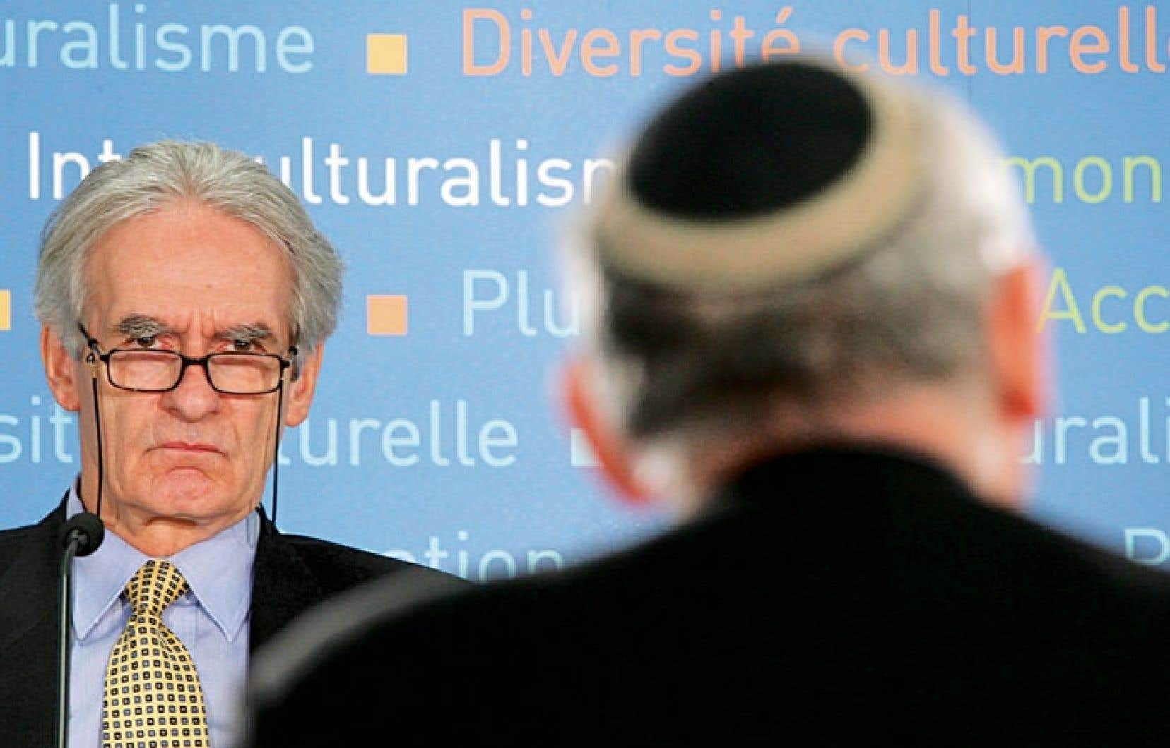 Gérard Bouchard, lors d'une audience de la commission Bouchard-Taylor en 2007