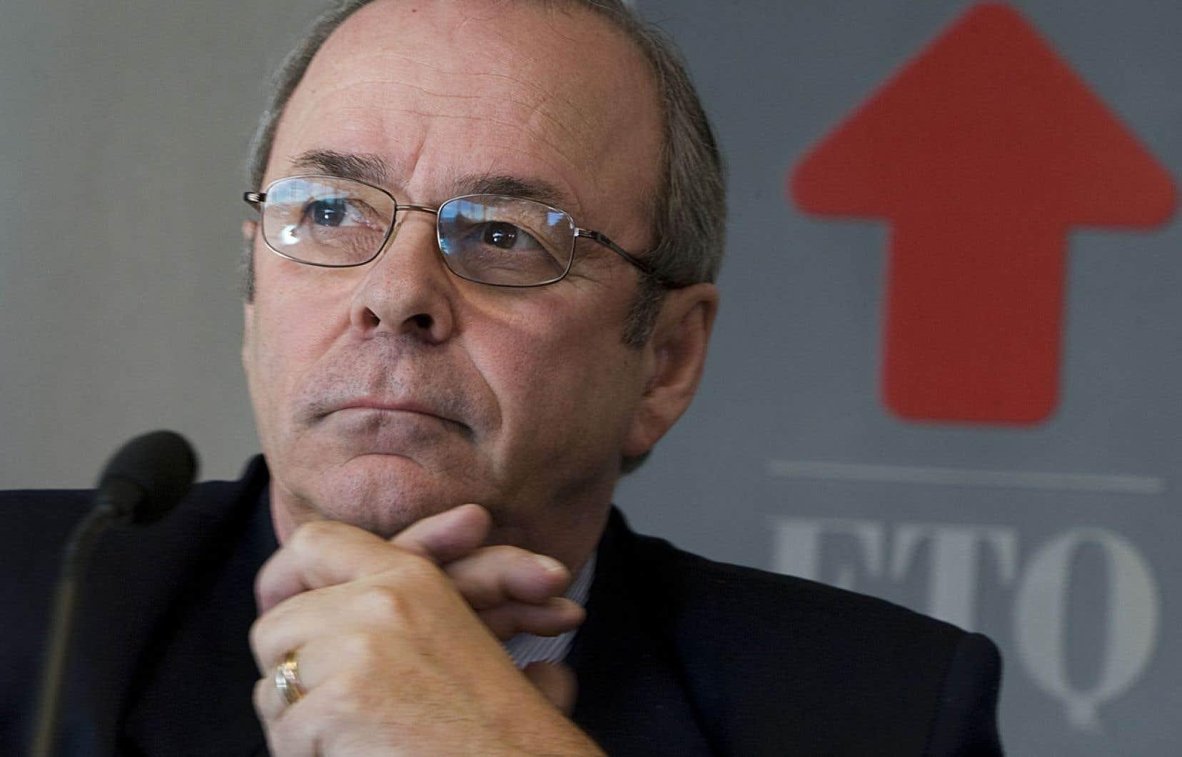 Le président de la FTQ, Michel Arsenault