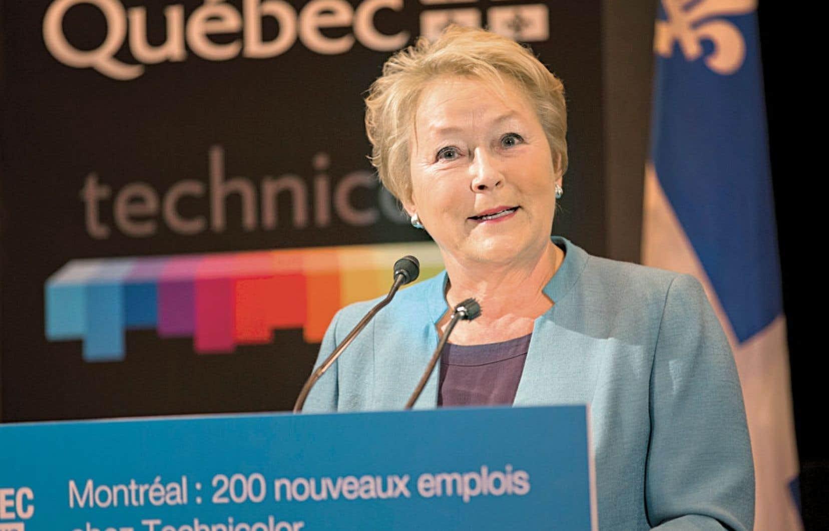 Pauline Marois évalue les rentrées fiscales du studio à 7 millions sur cinq ans.