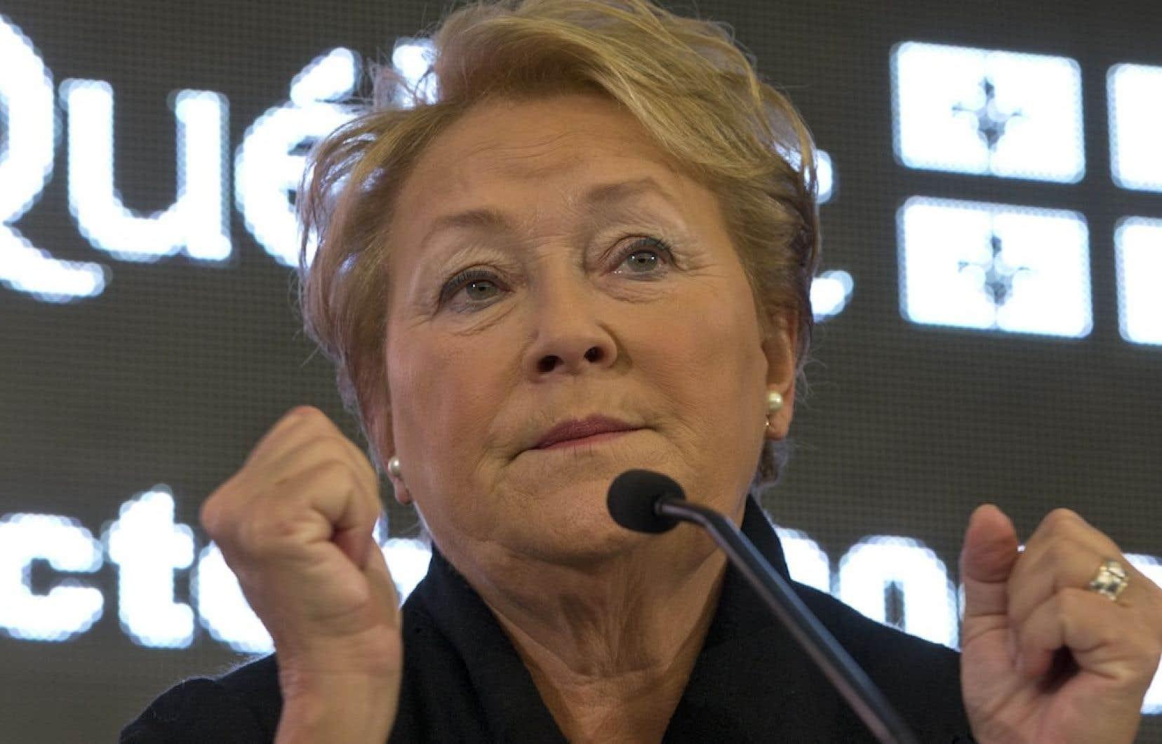 Pauline Marois ne s'offusque pas de l'incursion de Jacques Parizeau et de Lucien Bouchard dans le débat suscité par la Charte des valeurs québécoises