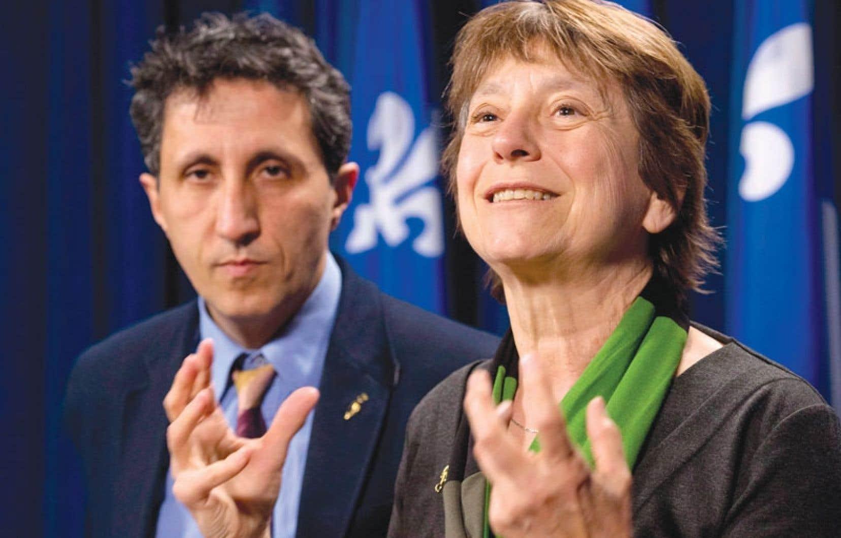 Françoise David et Amir Khadir jugent que le PQ emprunte des tactiques de l'extrême droite européenne en misant sur la division.