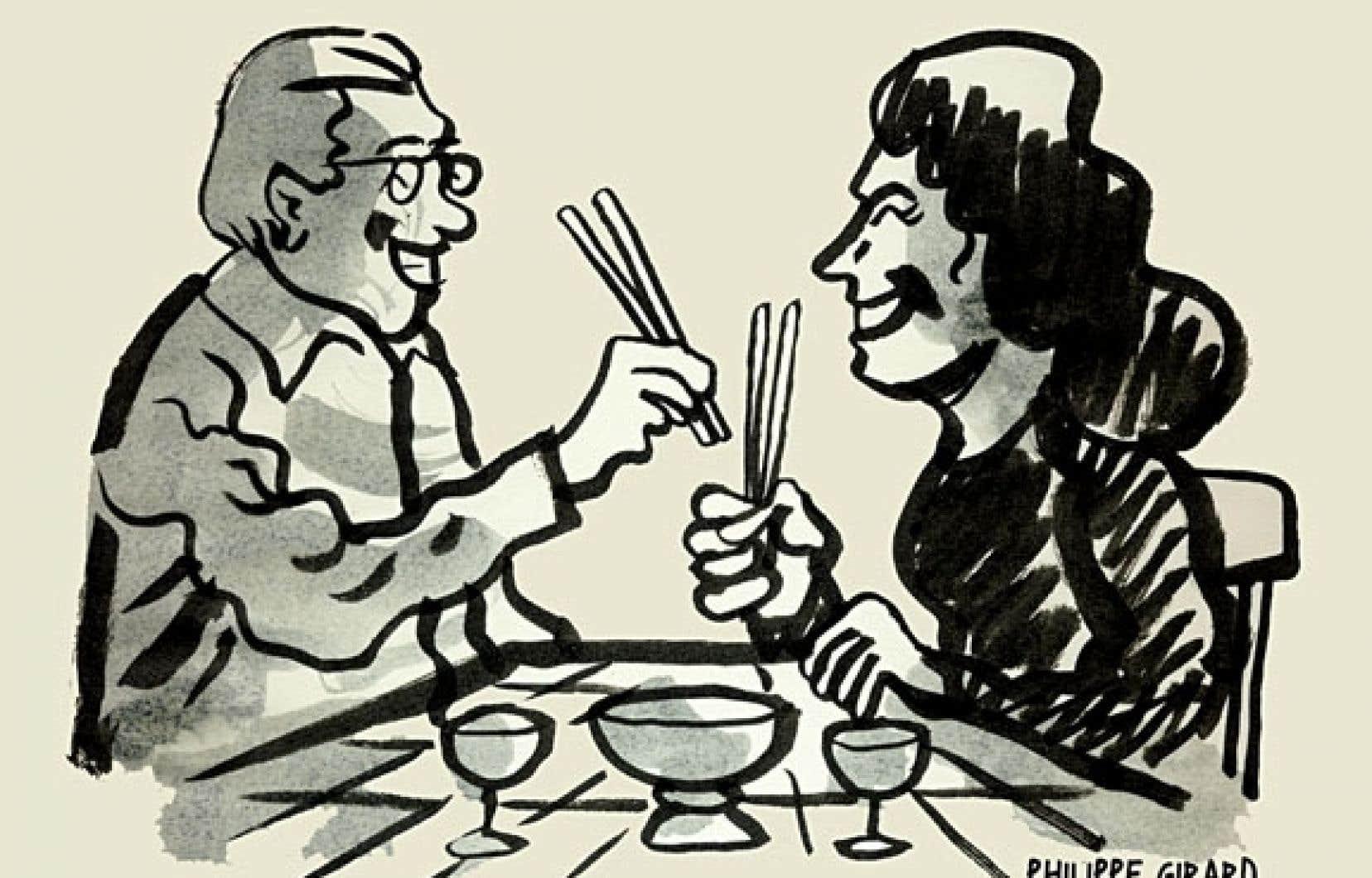Cette illustration de l'auteur de bande dessinée Philippe Girard a été inspirée par une nouvelle en 140 caractères de Yann Martel : « La Terre ? Nous l'avons mangée hier. »