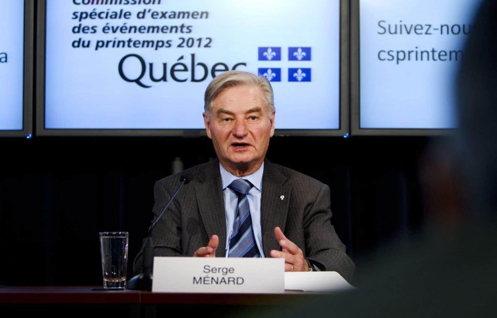 Le président de la commission, Serge Ménard