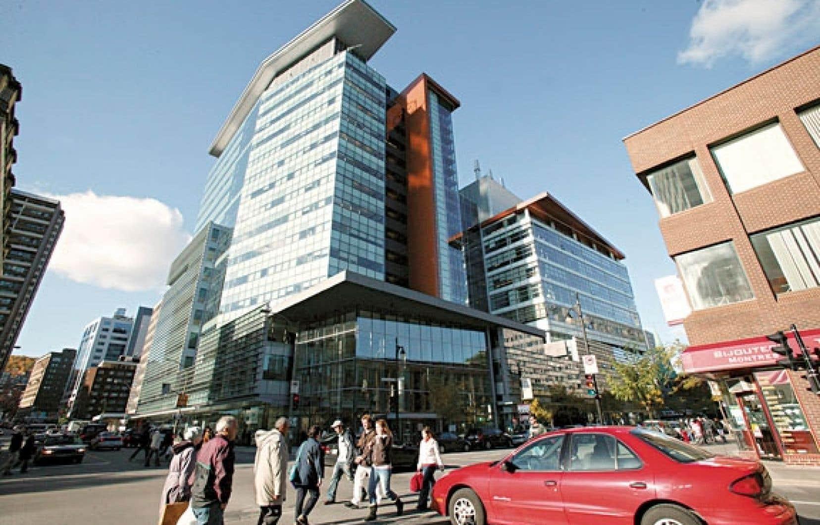 Le pavillon intégré Génie, informatique et arts visuels de l'Université Concordia, au centre-ville de Montréal