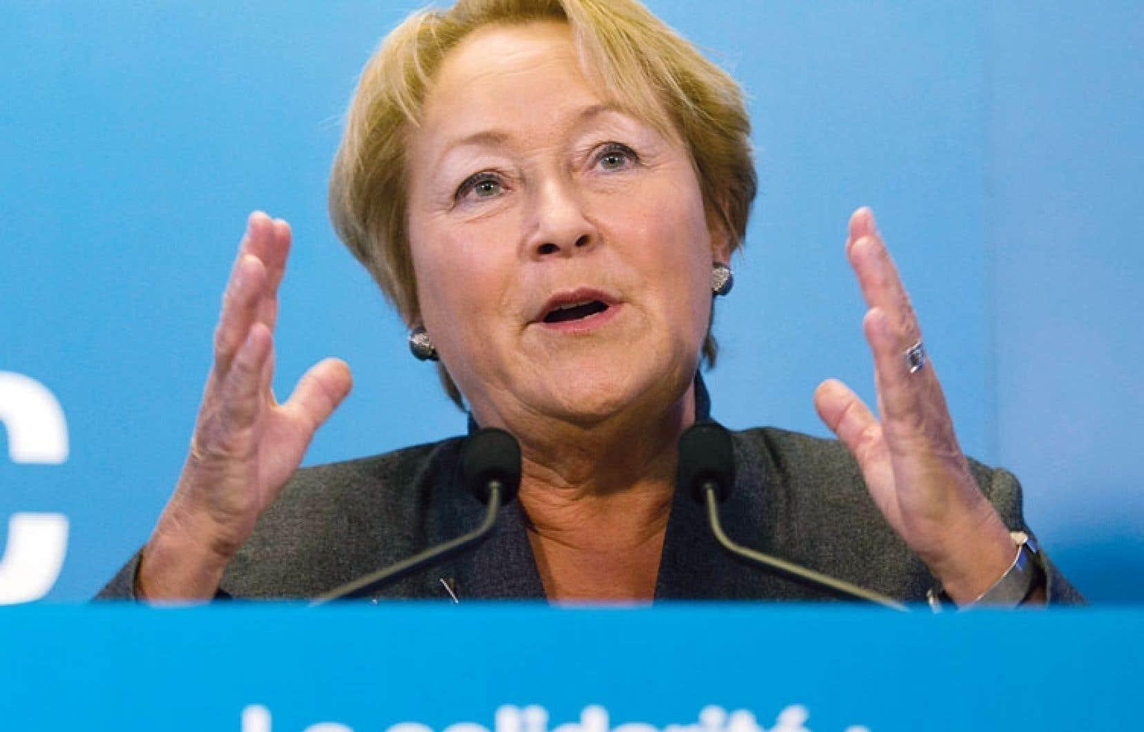 Pauline Marois affirme qu'une taxe santé progressive est le mieux que son gouvernement puisse faire dans le contexte actuel.