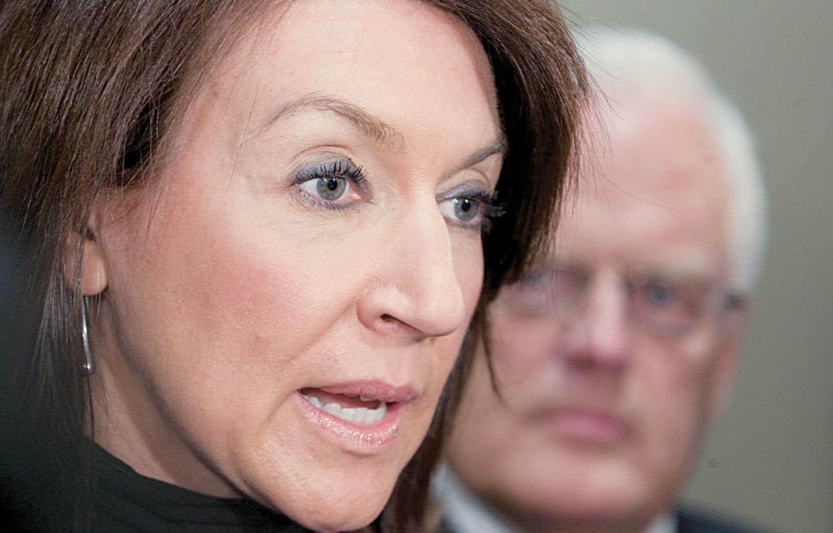 Nathalie Normandeau était l'invitée d'honneur d'un cocktail de financement au restaurant Louis-Hébert, à Québec, qui aurait été entaché d'actes criminels.