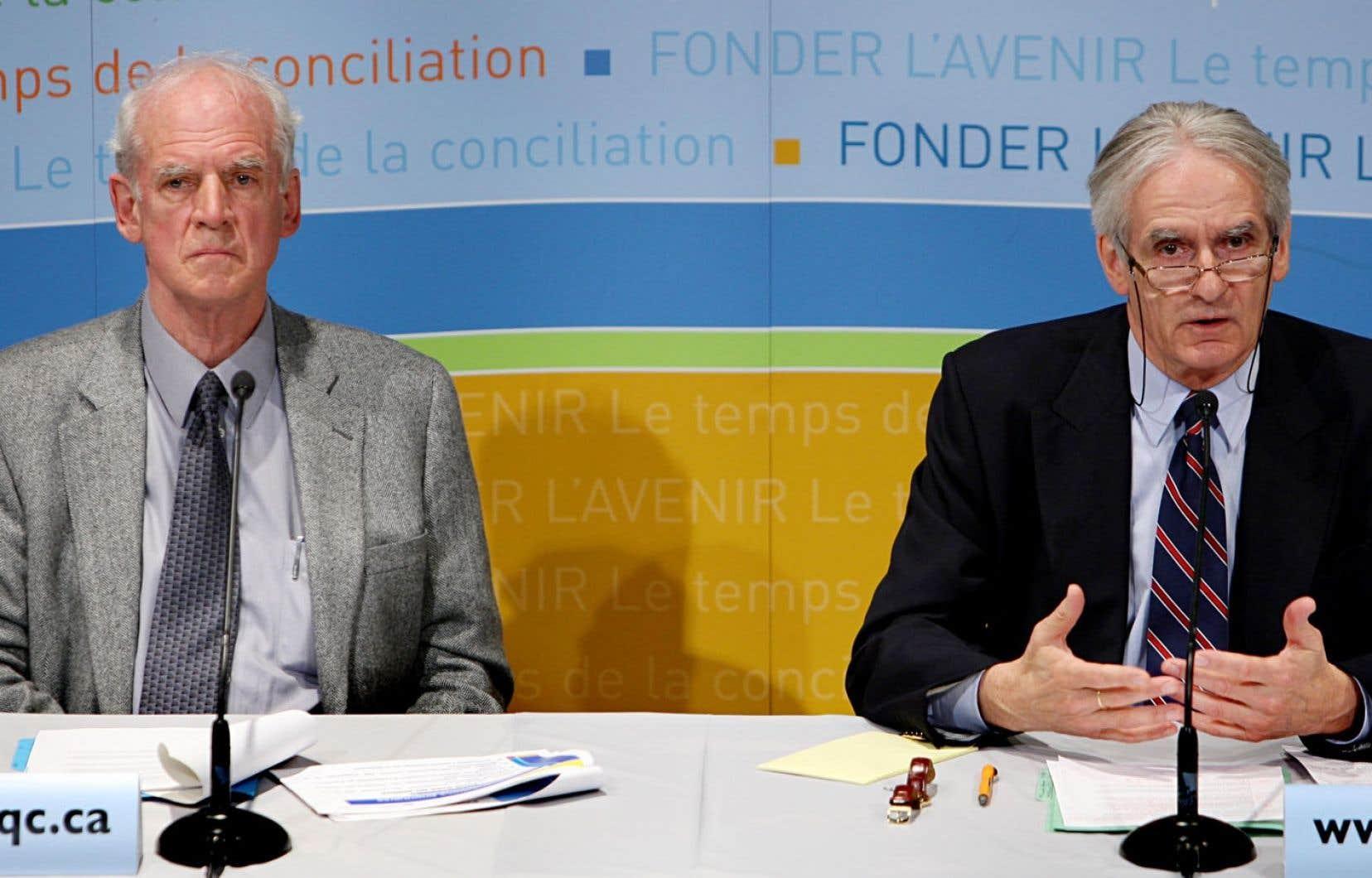 Charles Taylor et Gérard Bouchard