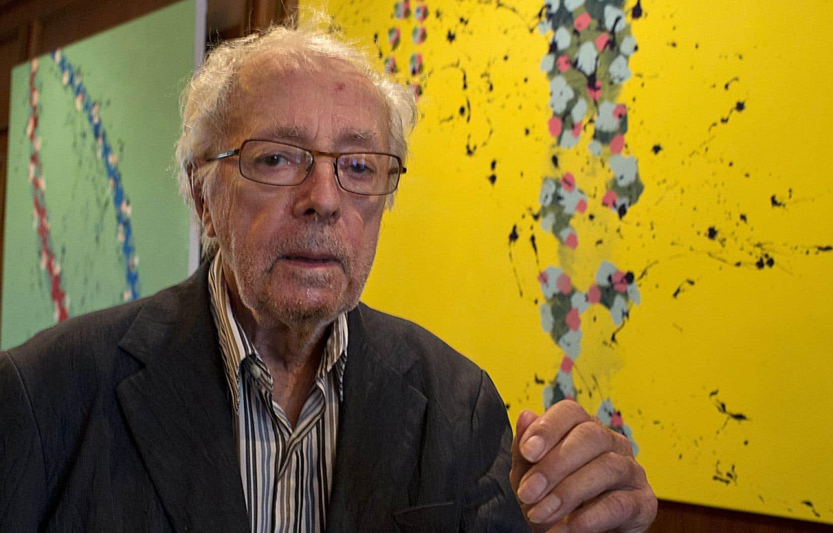 À 88 ans, Marcel Barbeau n'a pas cessé de peindre ni de sculpter.