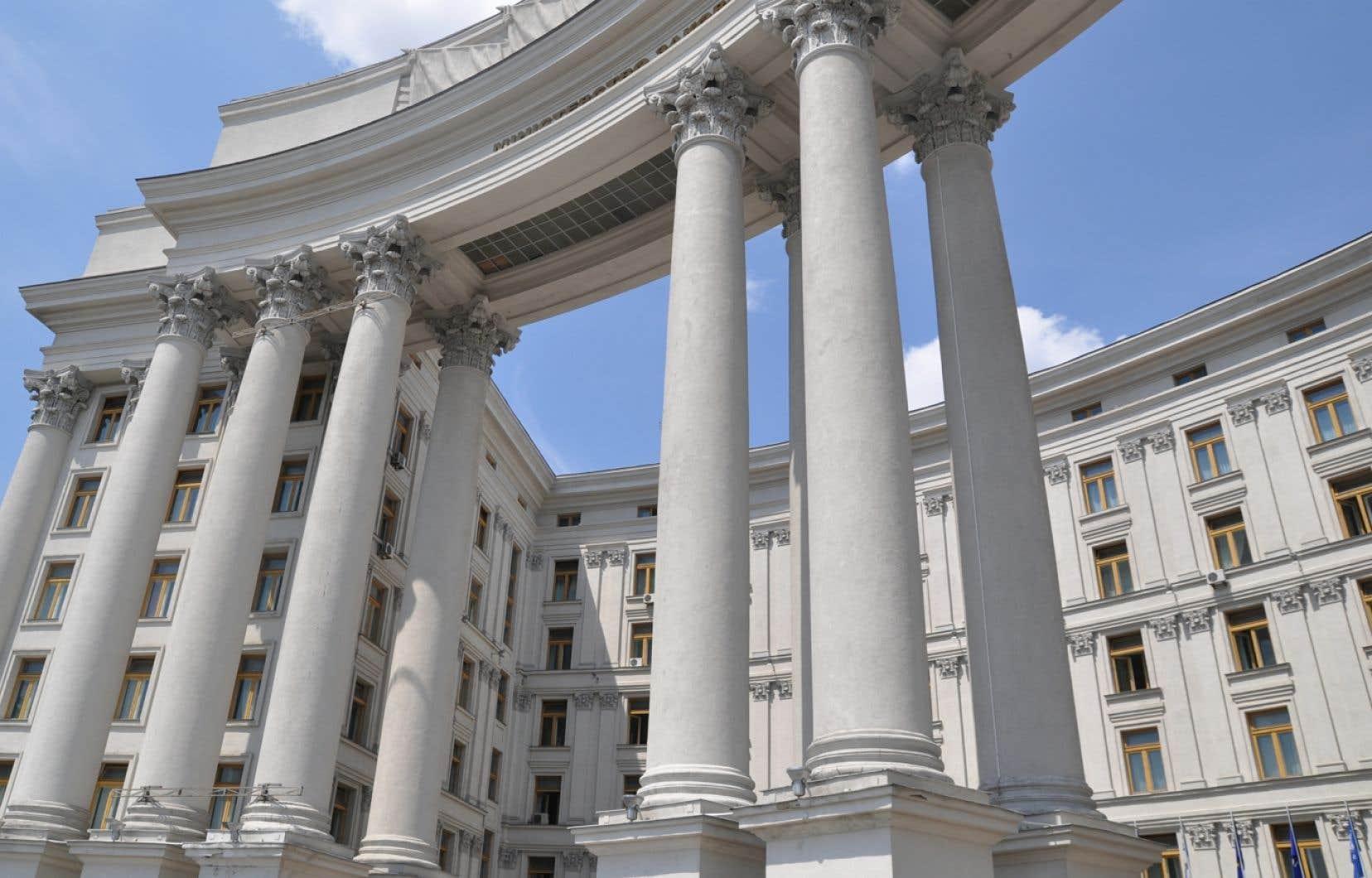 Cette décision inattendue de l'Ukraine inflige un camouflet à l'UE. Sur la photo, l'édifice du ministère des affaires étrangères à Kiev.