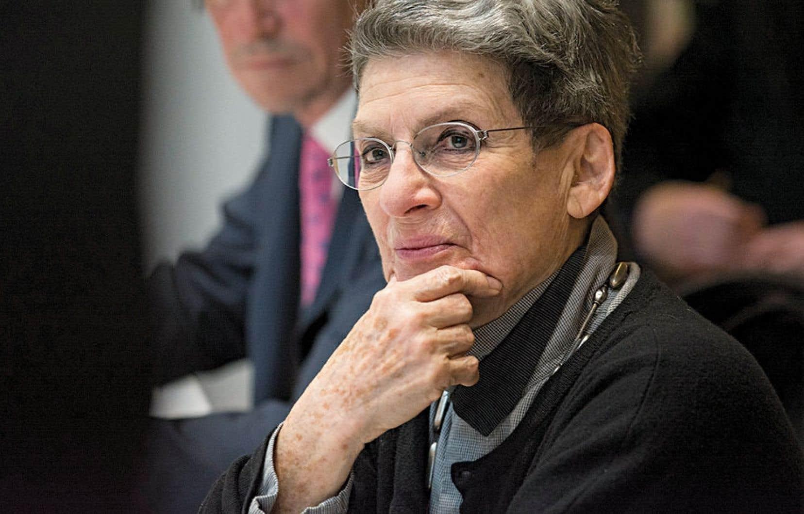 Fière et émue, Phyllis Lambert a dit qu'il s'agissait d'un grand moment pour elle.